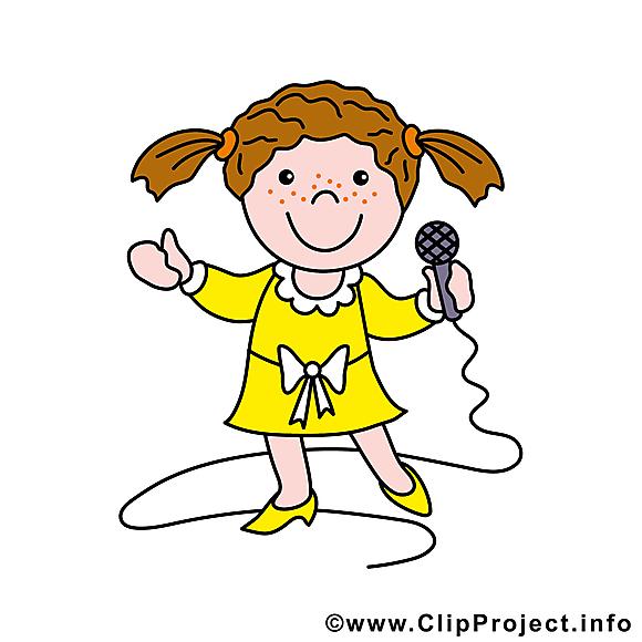 Chanteuse illustration gratuite - Métier clipart