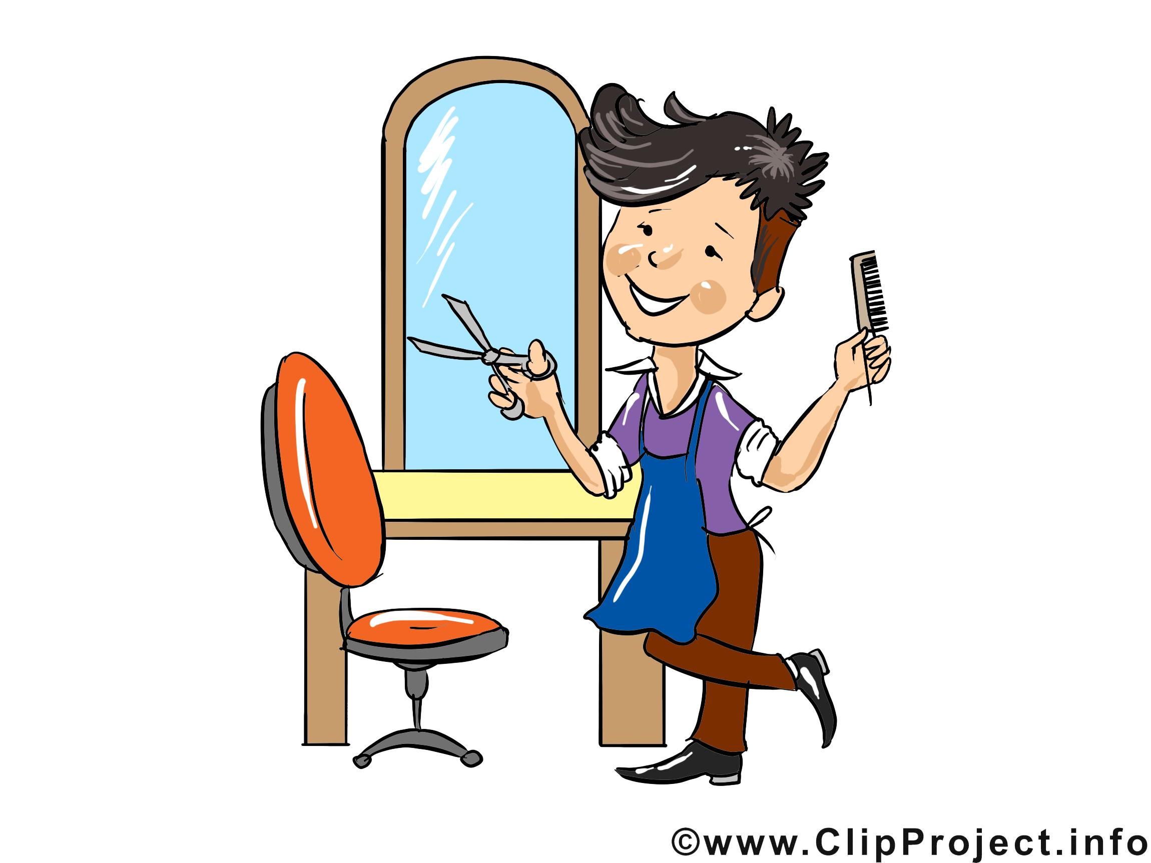 Coiffeur clip art gratuit - Profession dessin