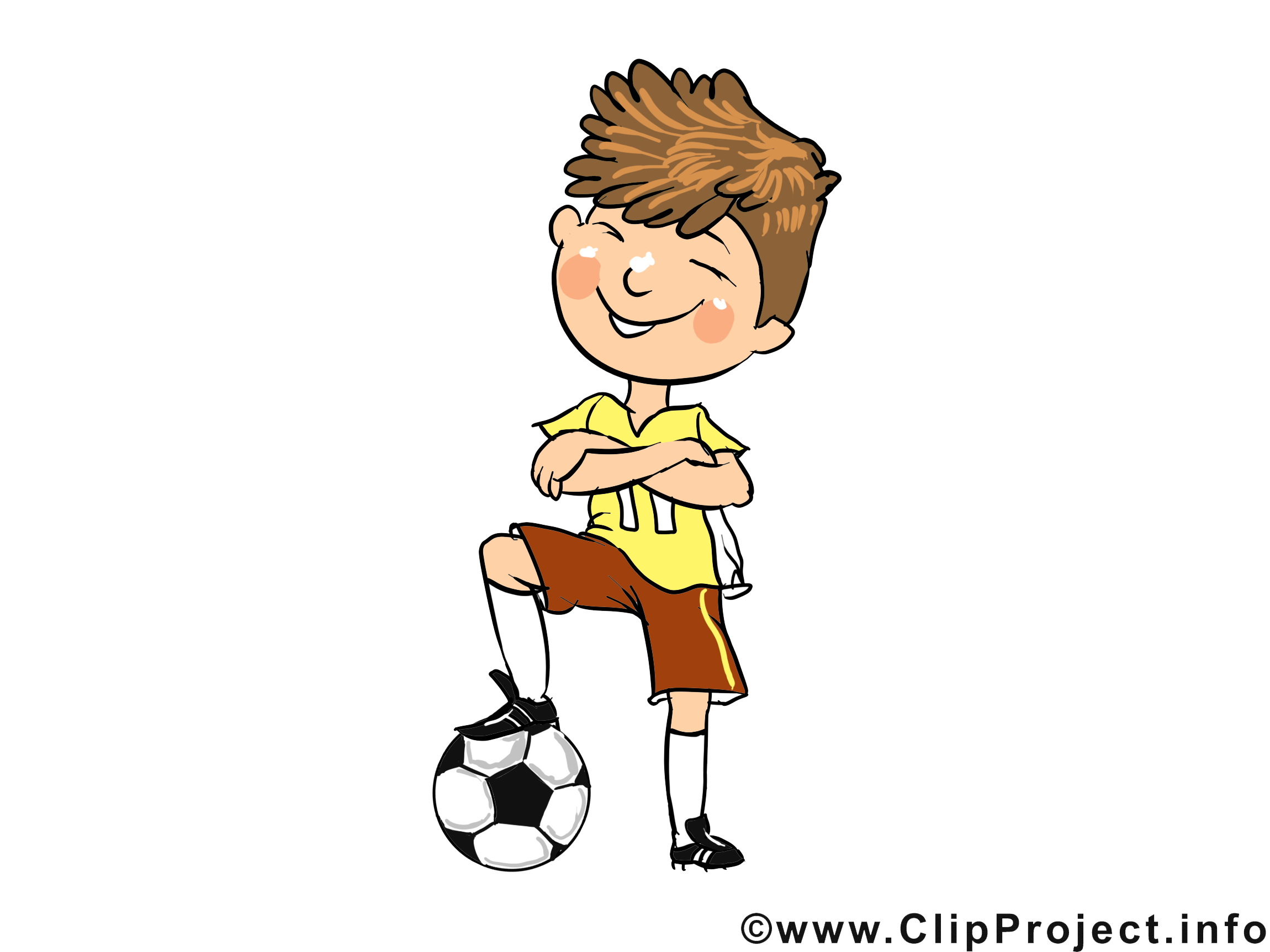 Footballeur clip art gratuit - Profession dessin