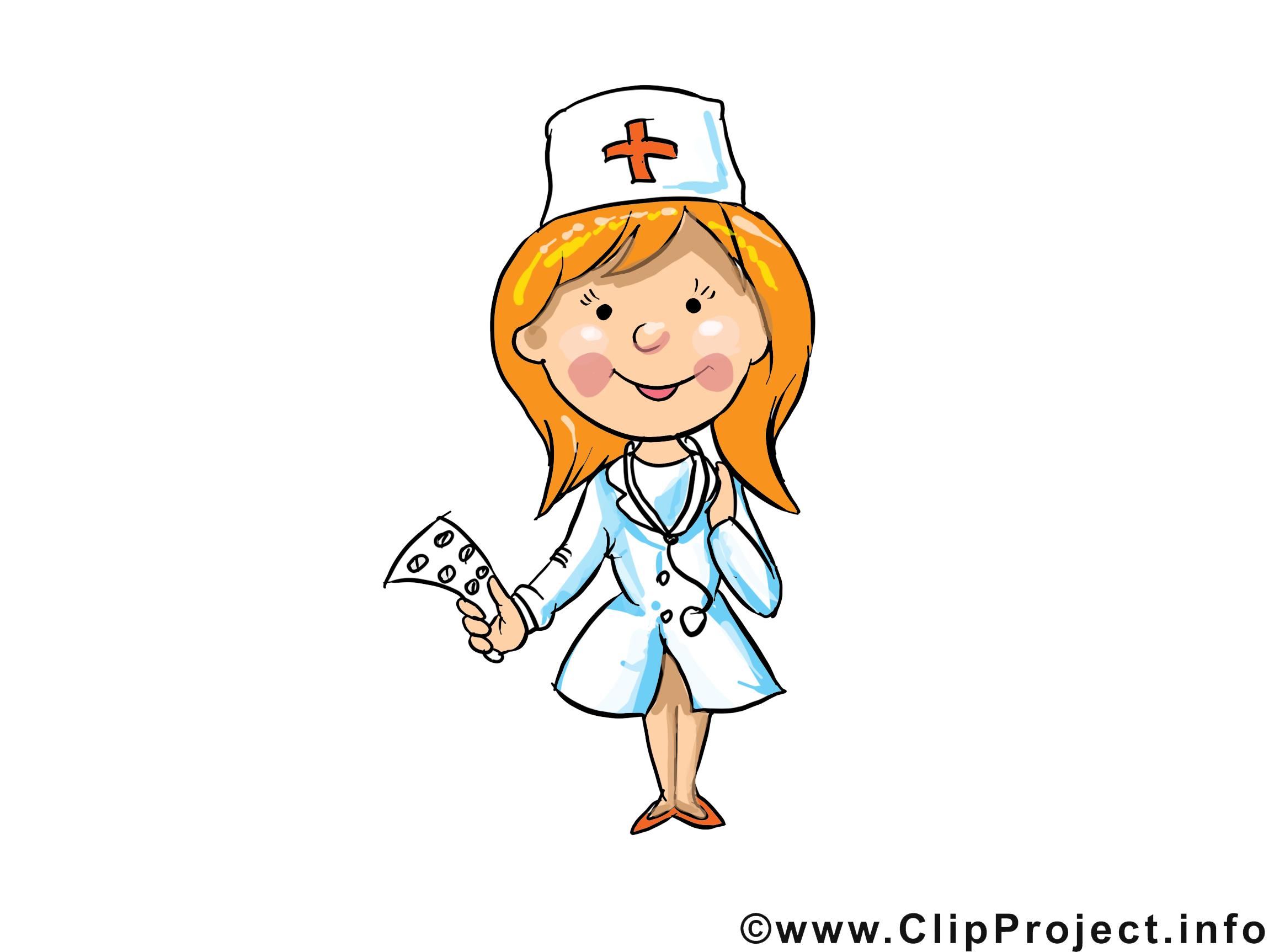 Infirmiere Clip Arts Gratuits Metier Illustrations Profession Dessin Picture Image Graphic Clip Art Telecharger Gratuit