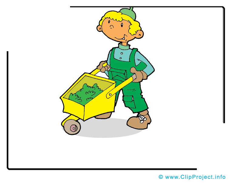 Jardinier clip art gratuit - Profession dessin