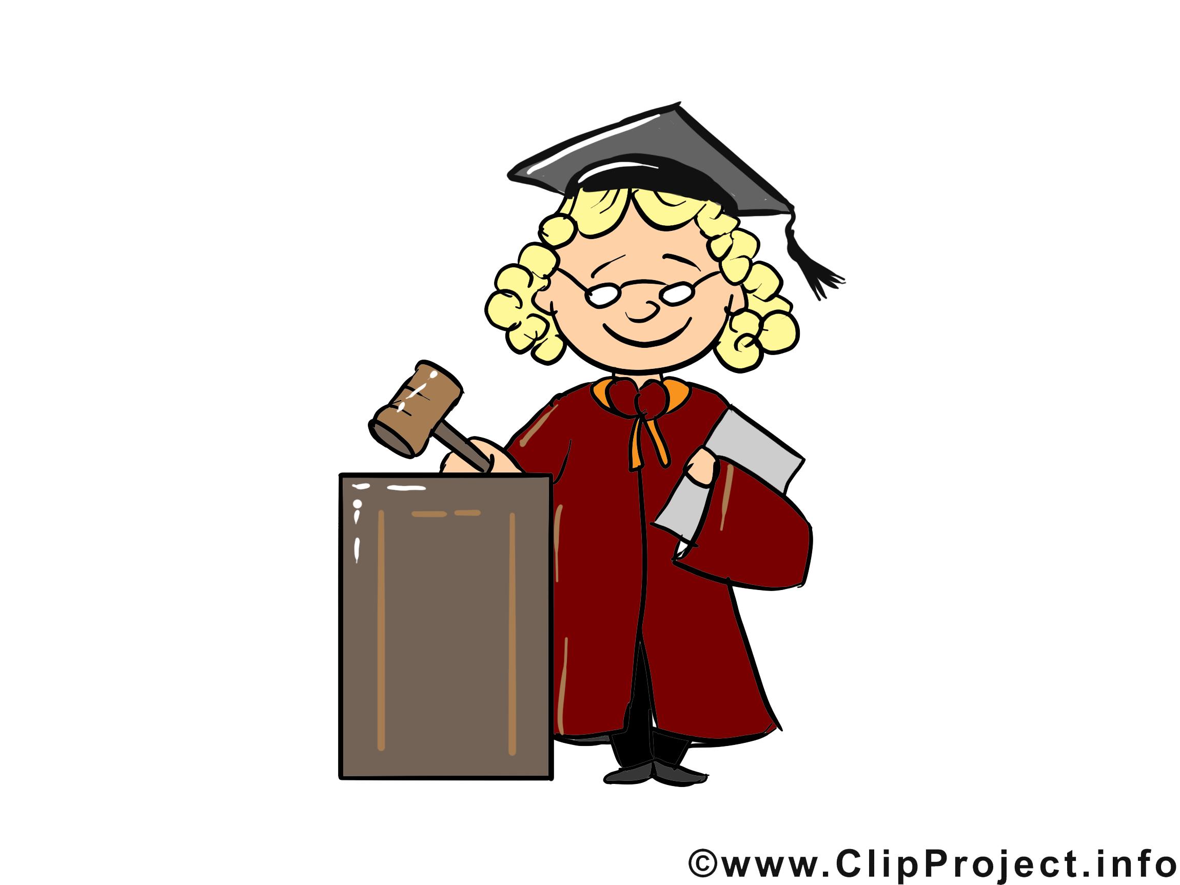 Juge images - Profession clip art gratuit