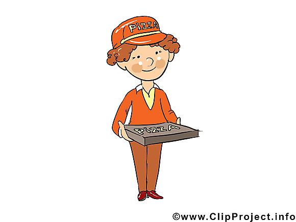 Livreur de pizza image - Métier  clipart