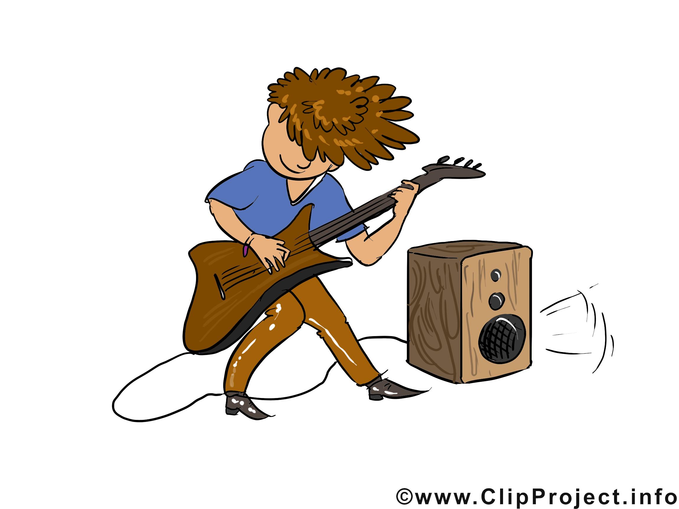 Musicien de rock cliparts gratuis - Métier images
