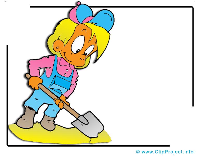 Ouvrier illustration - Pelle images gratuites