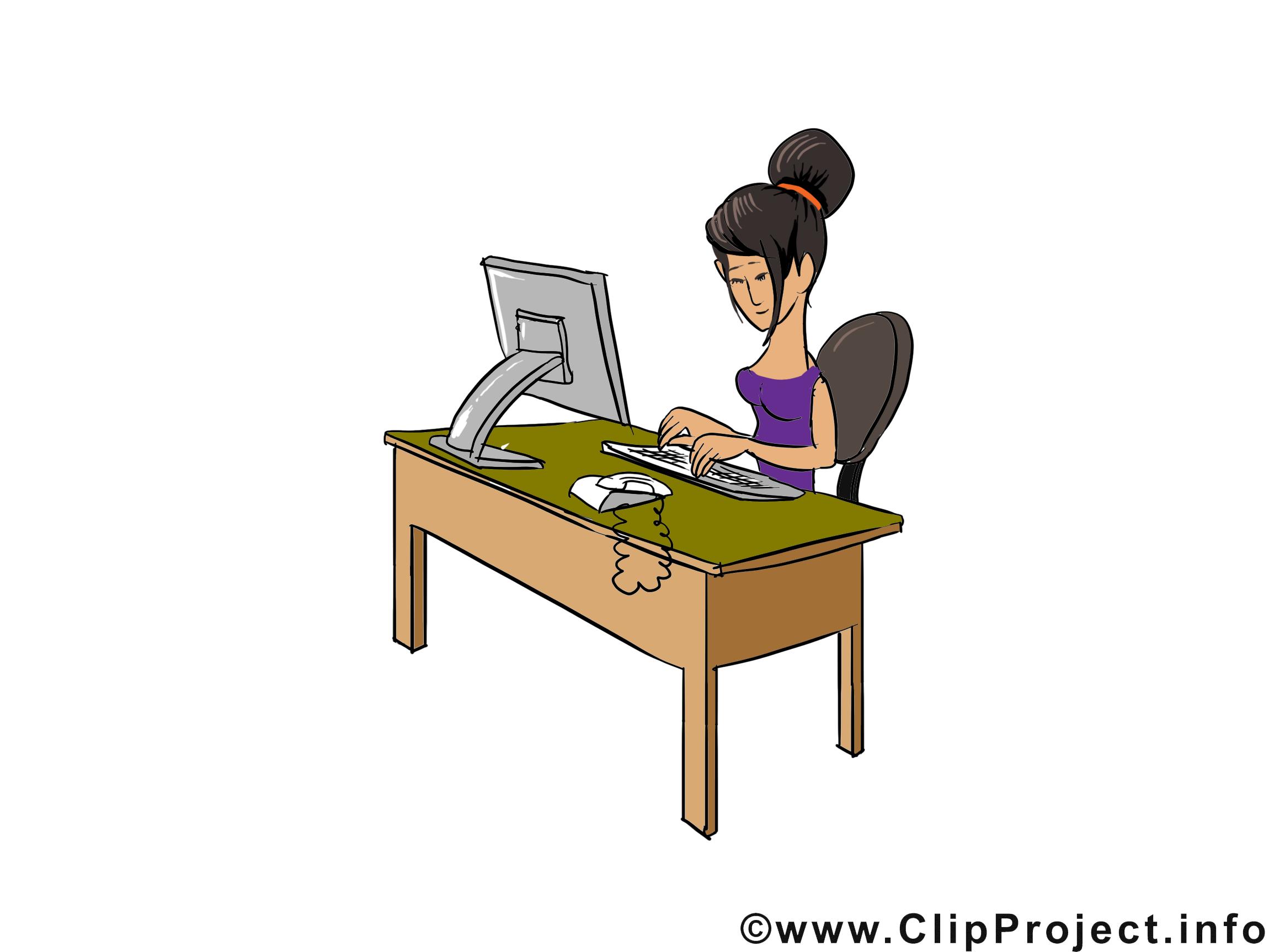Secr taire dessins gratuits m tier clipart gratuit - Secretaire ordinateur ...