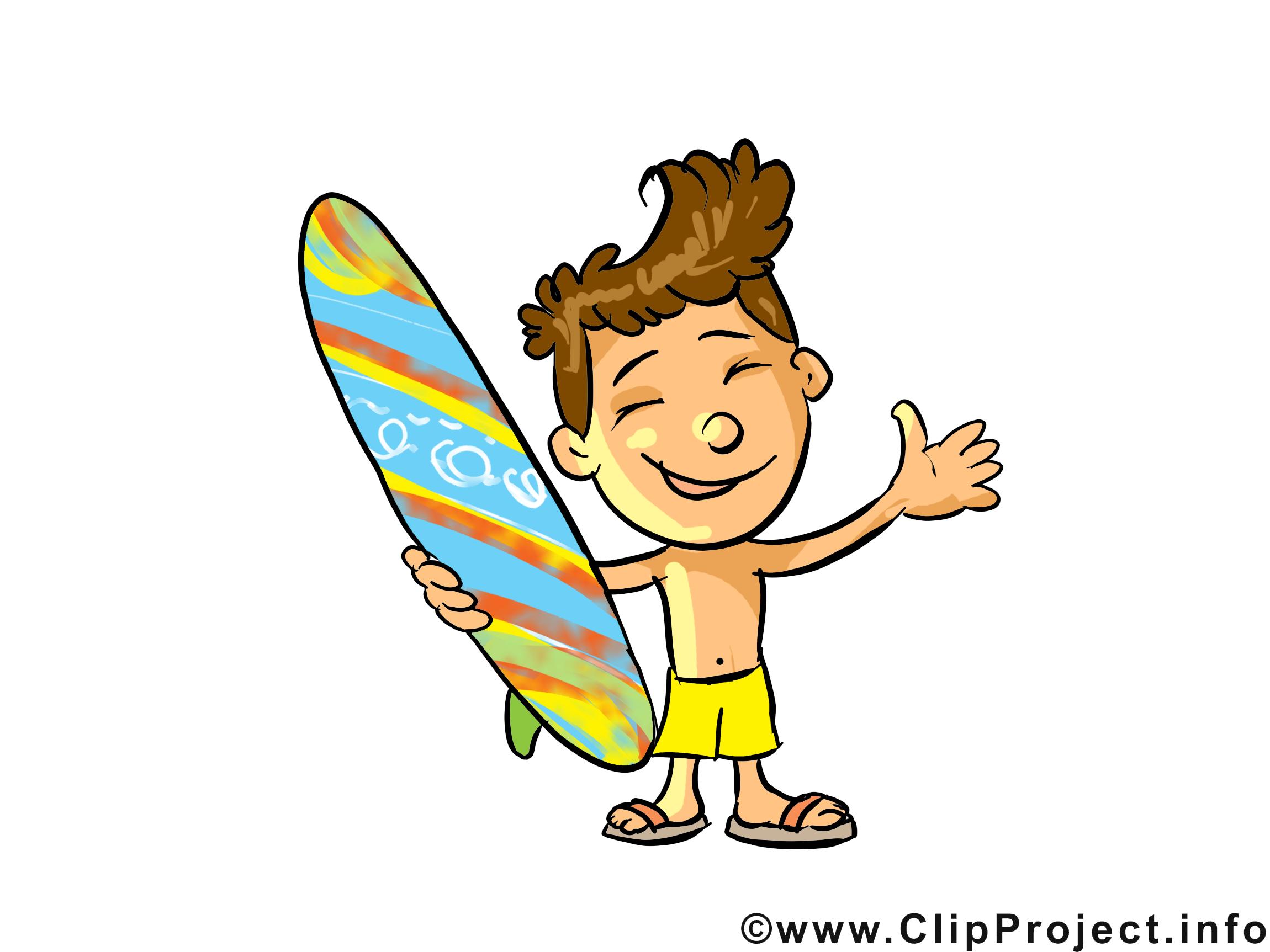 Surfeur profession dessin gratuit à télécharger