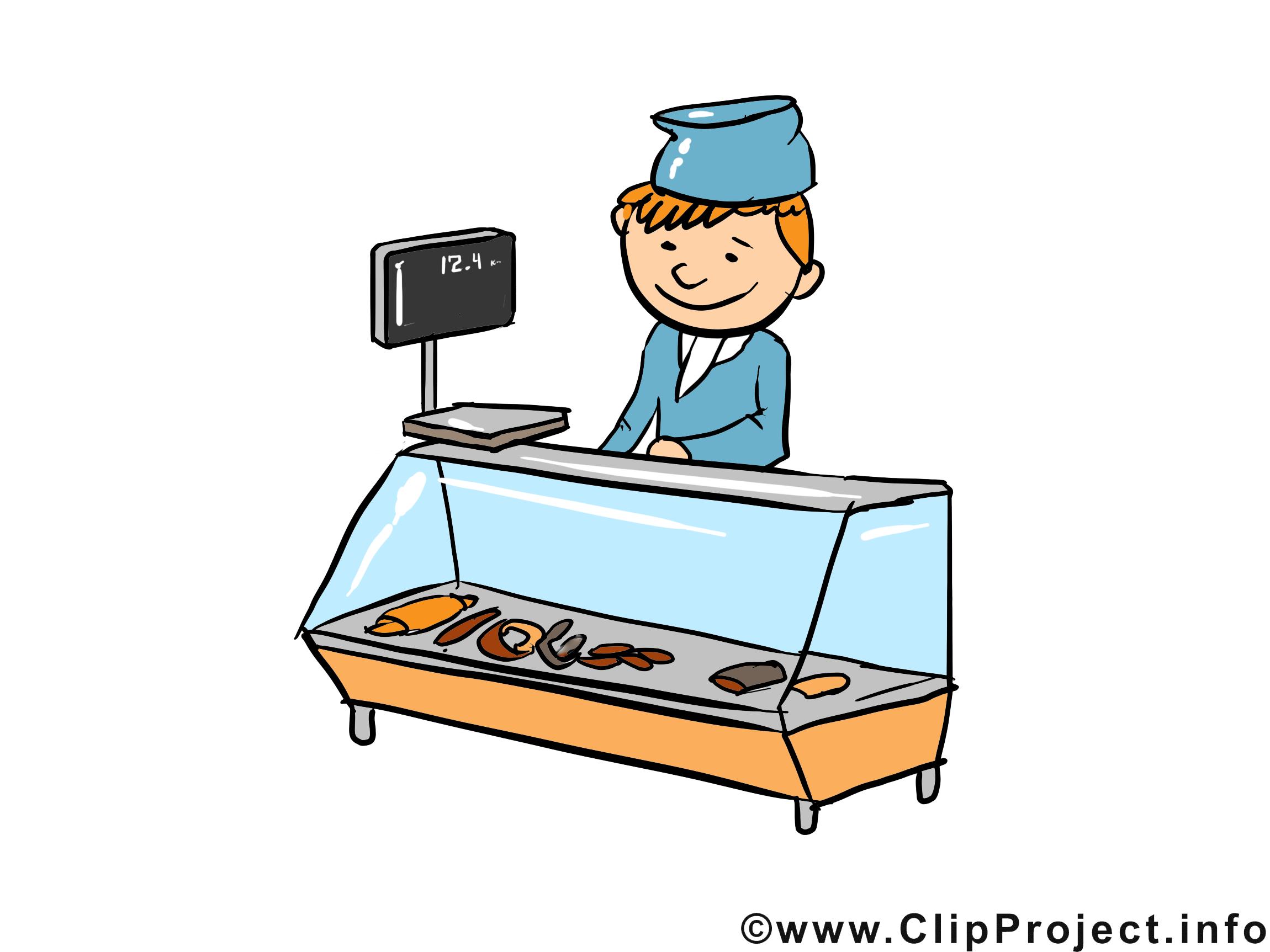 Vendeur clipart gratuit - Profession images