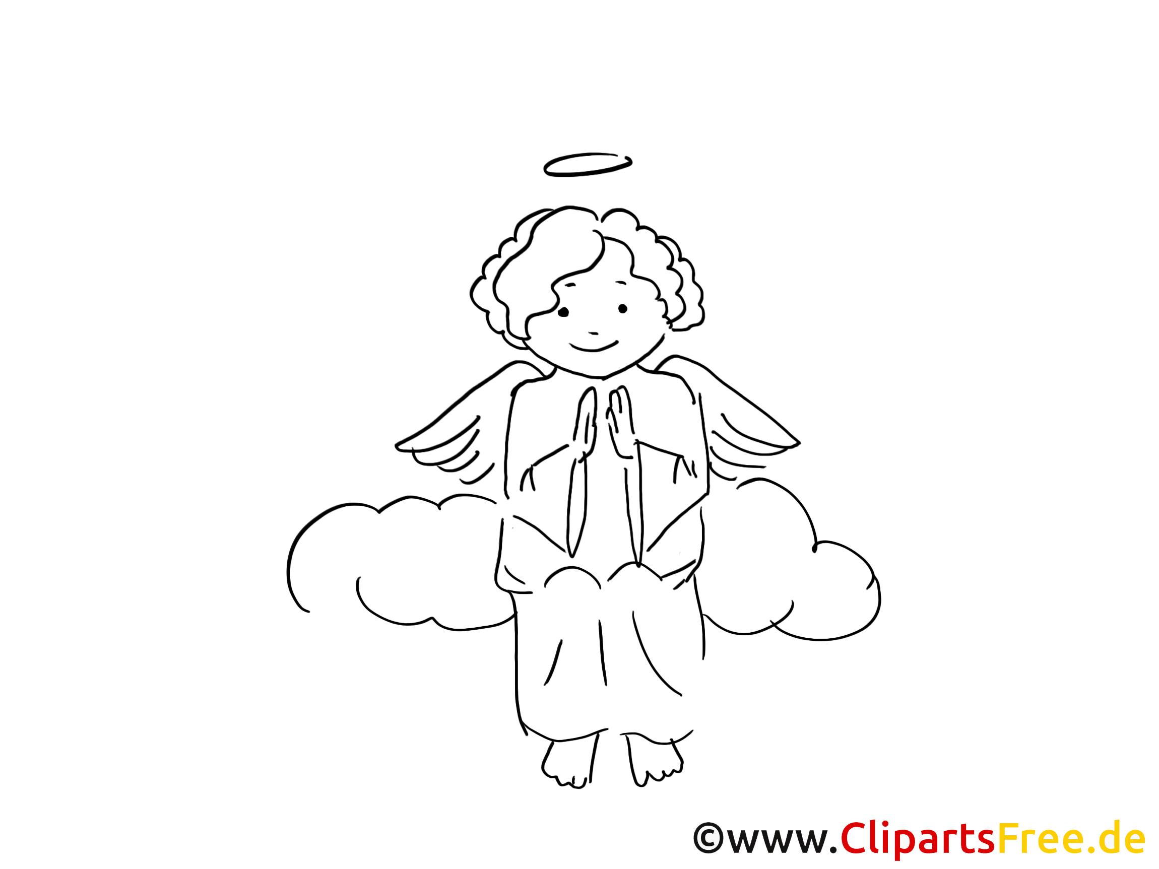 Ange images à imprimer - Baptême dessins gratuits