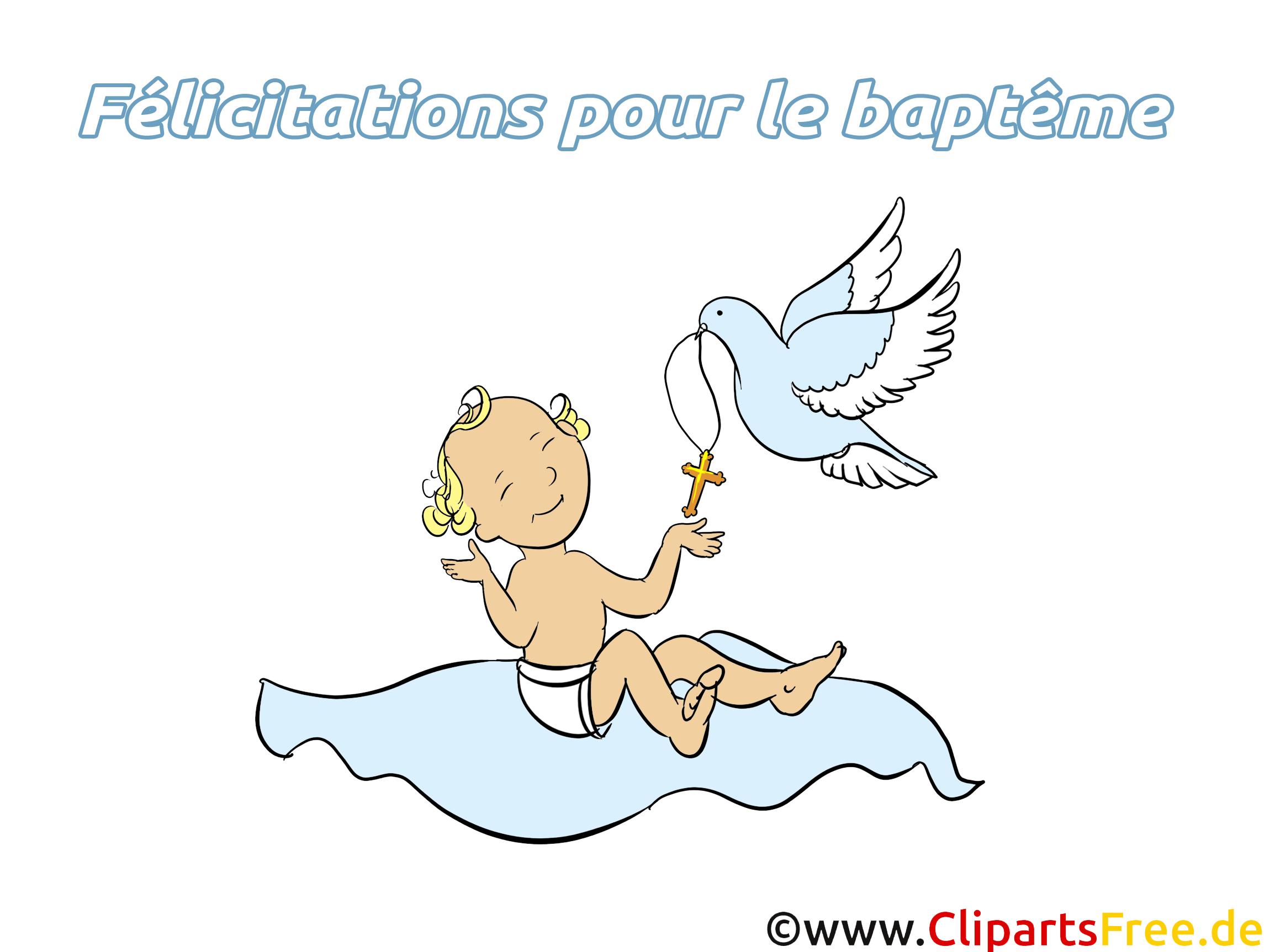 Bébé illustration - Baptême images gratuites