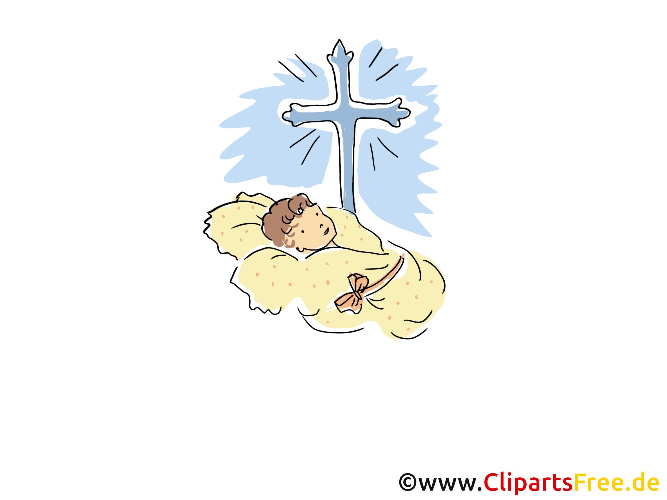 Croix clip arts gratuits - Baptême illustrations