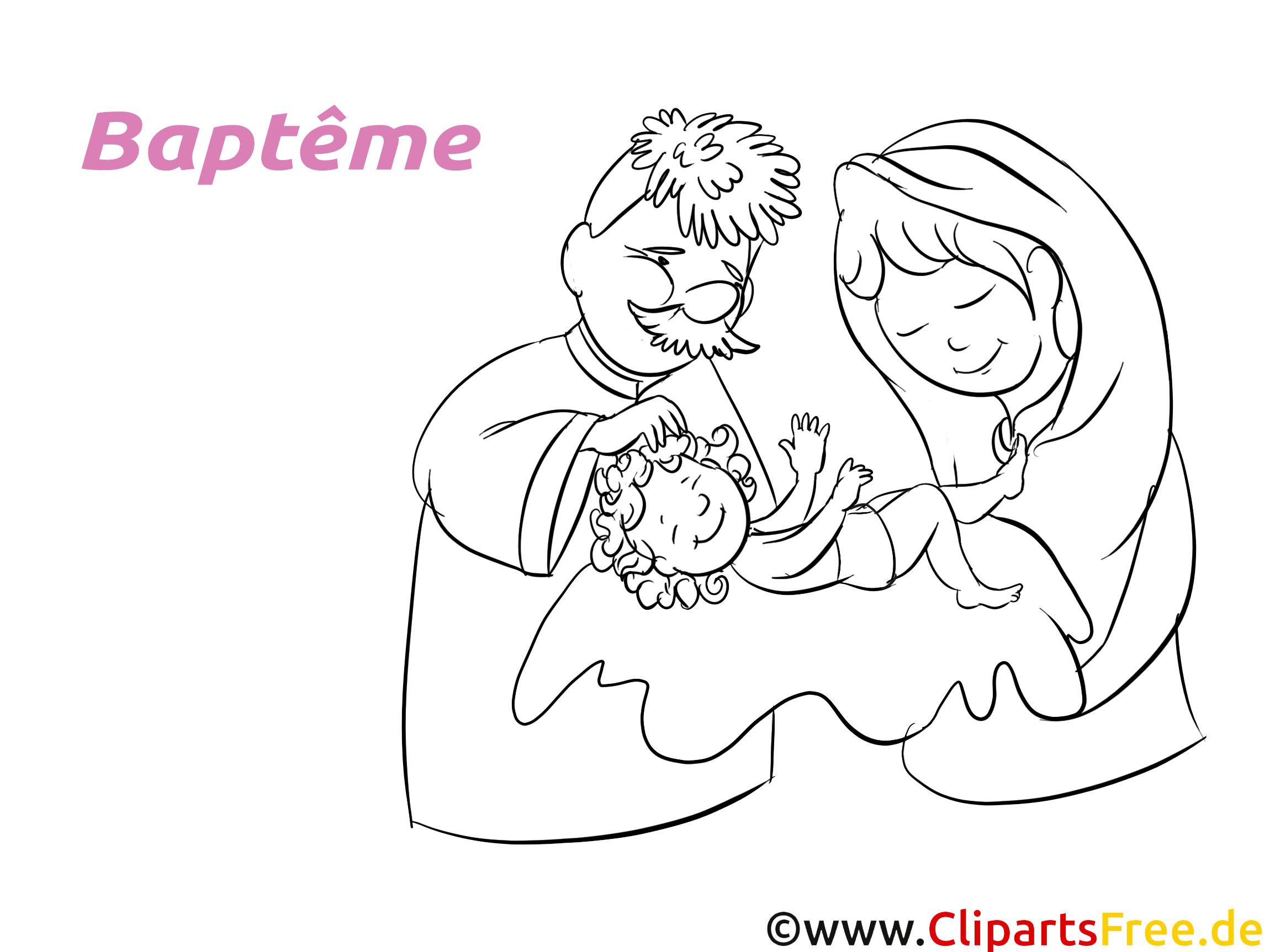Parents image à imprimer - Baptême cliparts