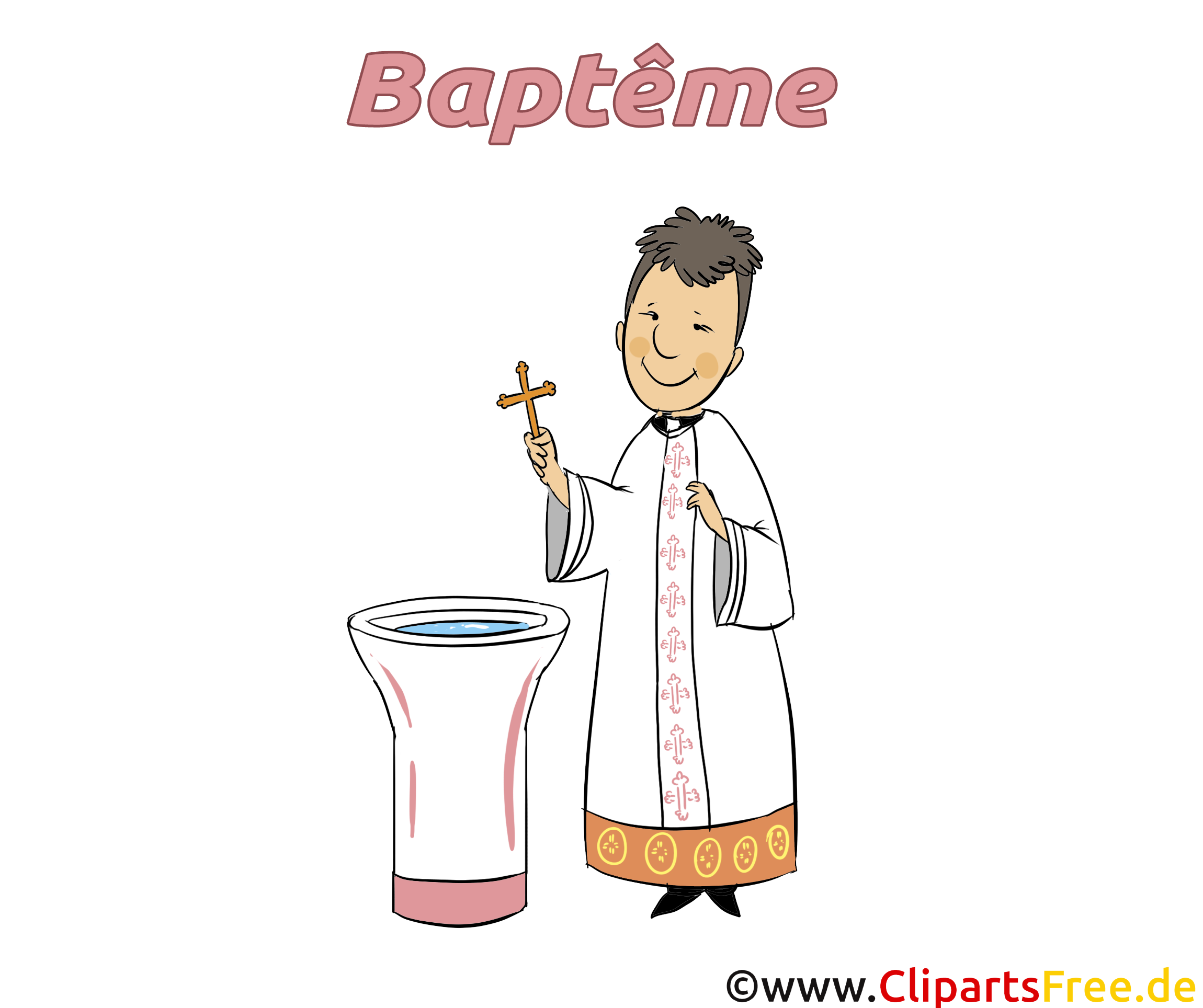 Prêtre baptême dessin gratuit à télécharger