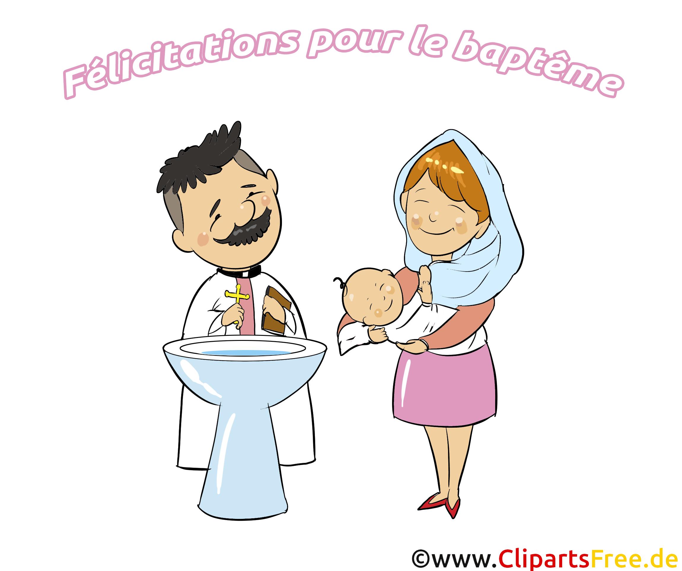 Prêtre baptême illustration à télécharger gratuite