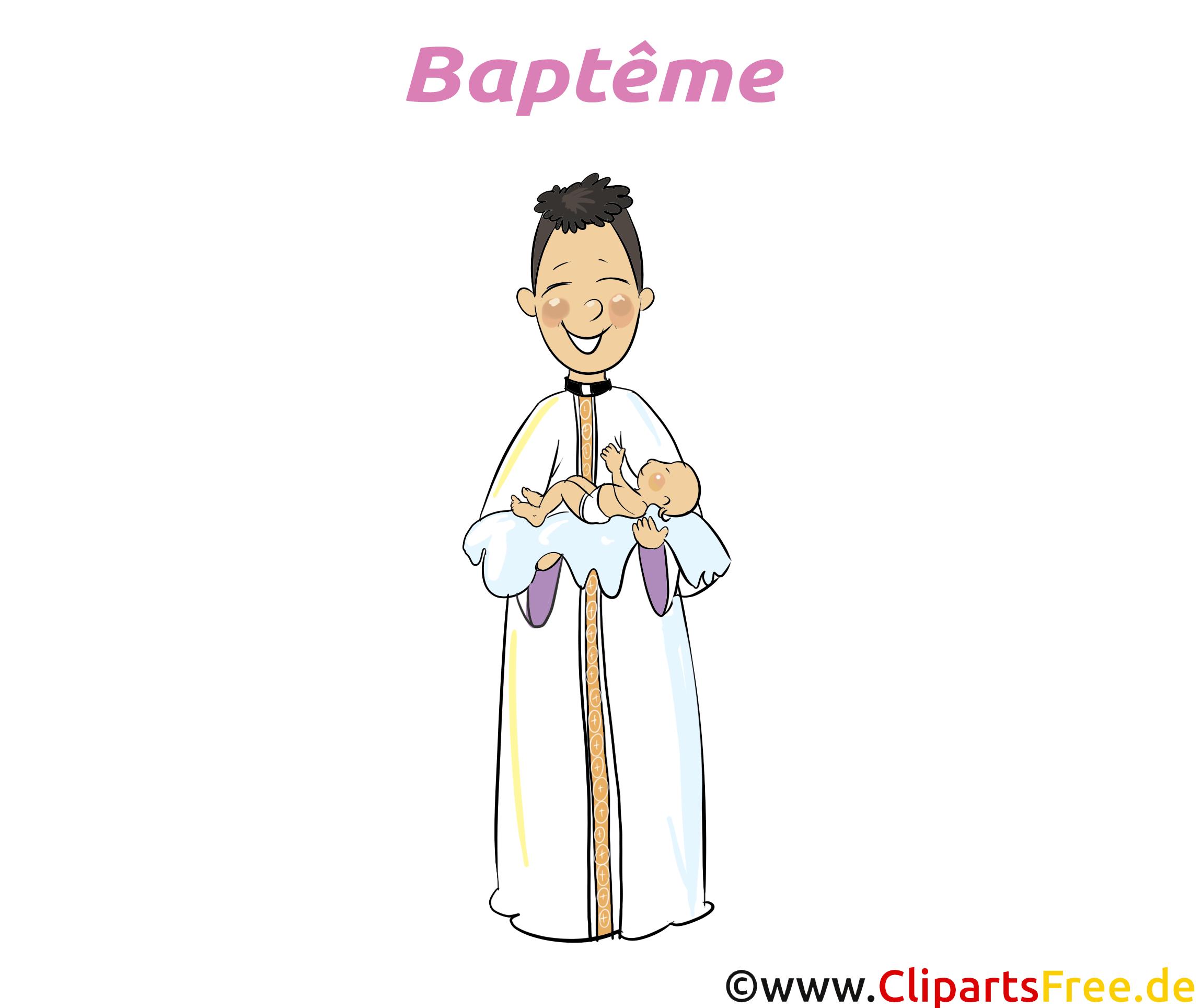 Prêtre clip art – Baptême image gratuite