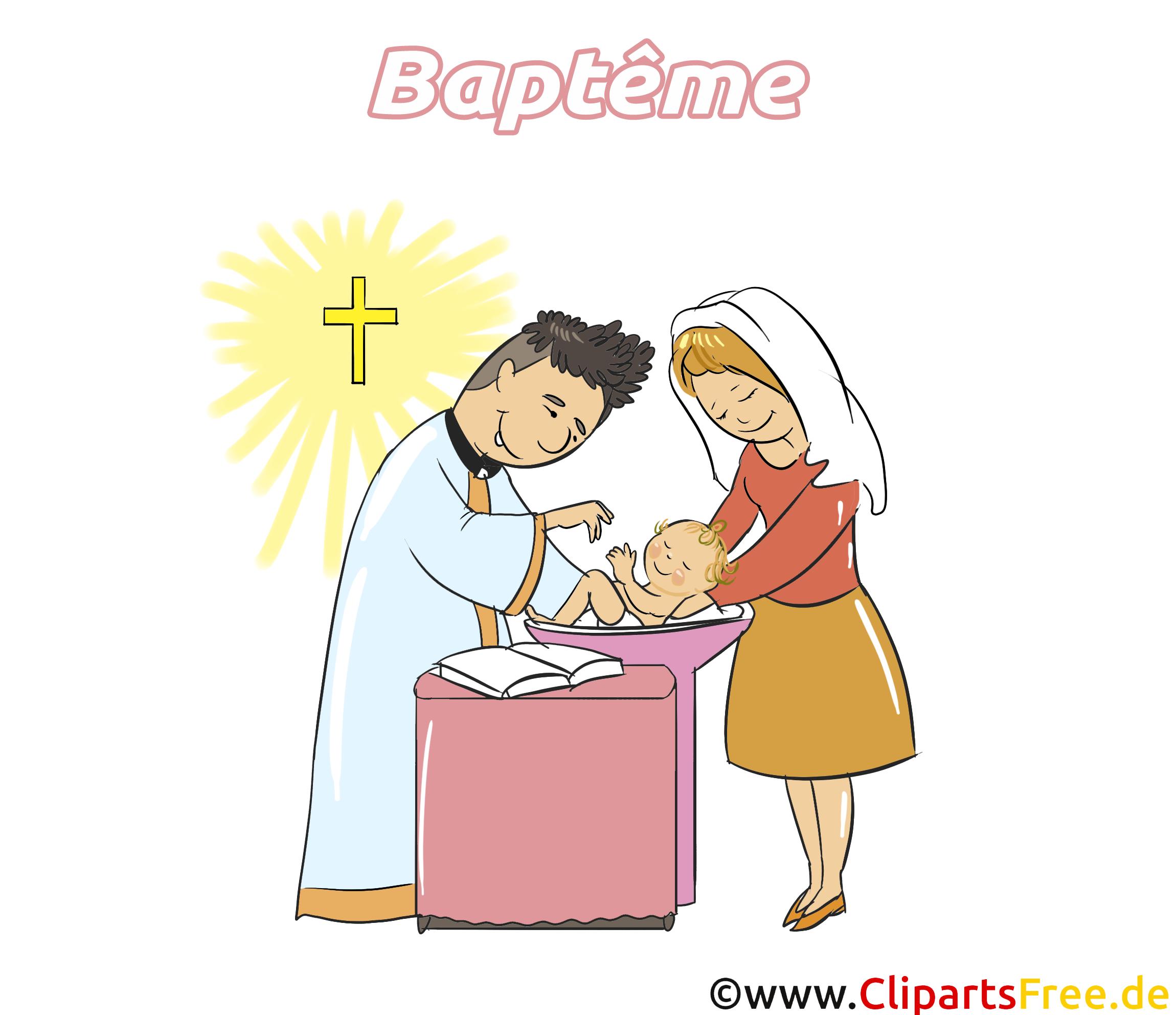 Prêtre dessin - Baptême cliparts à télécharger