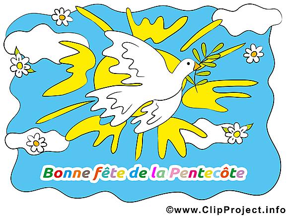 Colombe dessin gratuit - Pentecôte clip arts gratuits