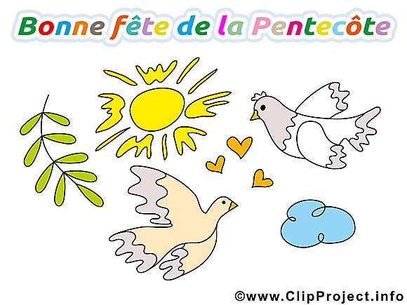 Jolie carte Pentecôte images gratuites