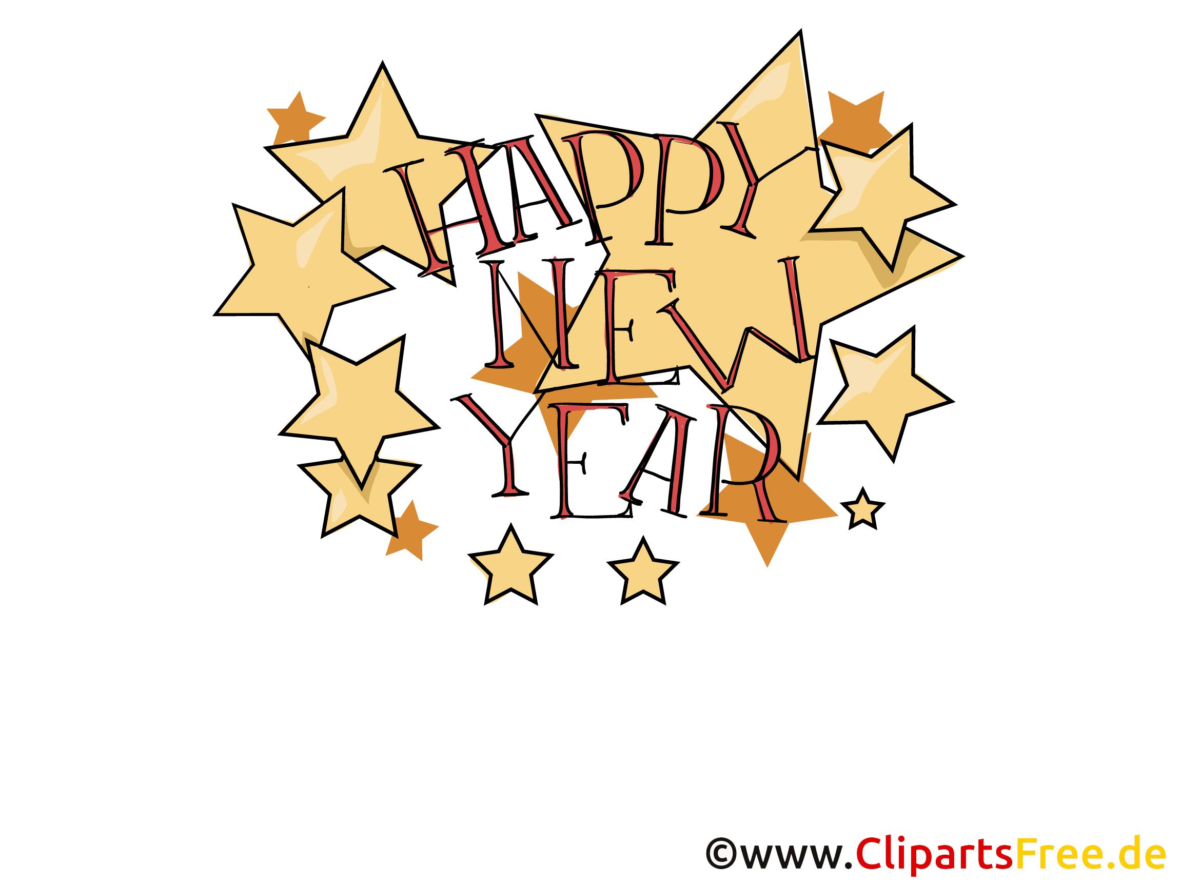 Bonne année, Clipart