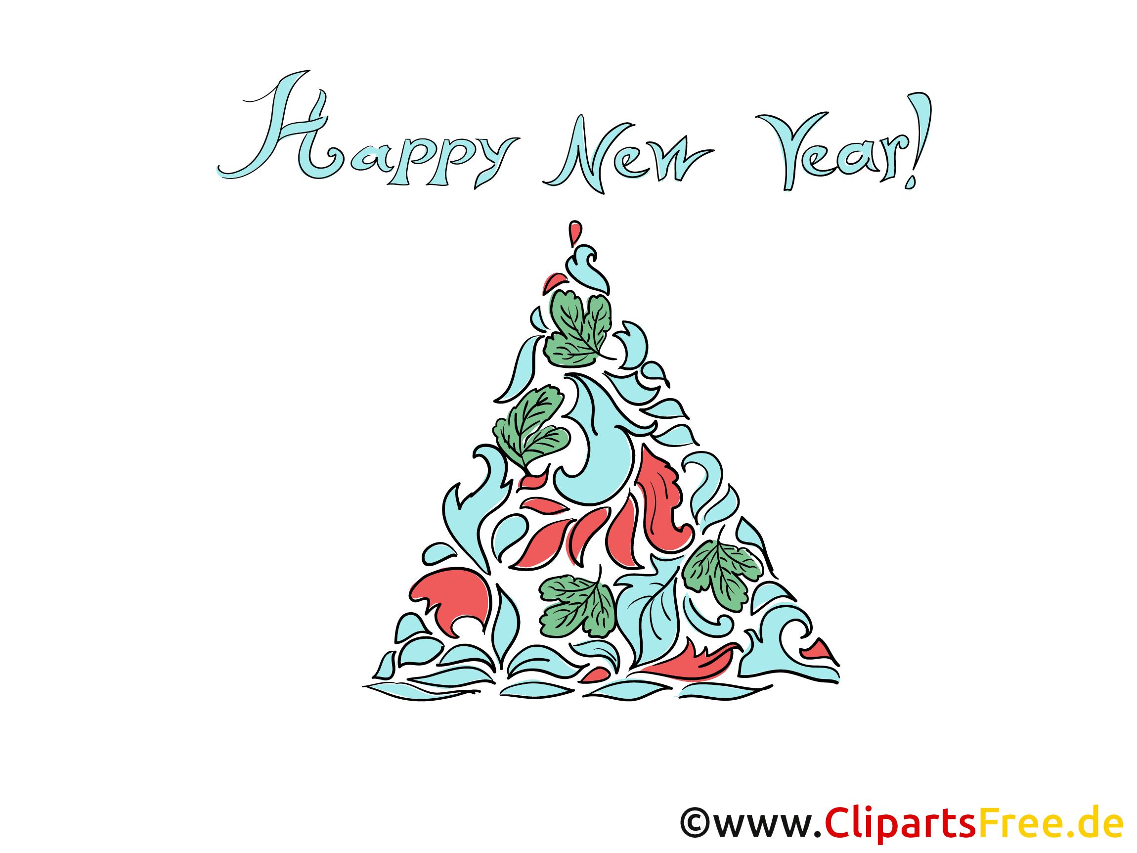 Bonne année la carte de vœux