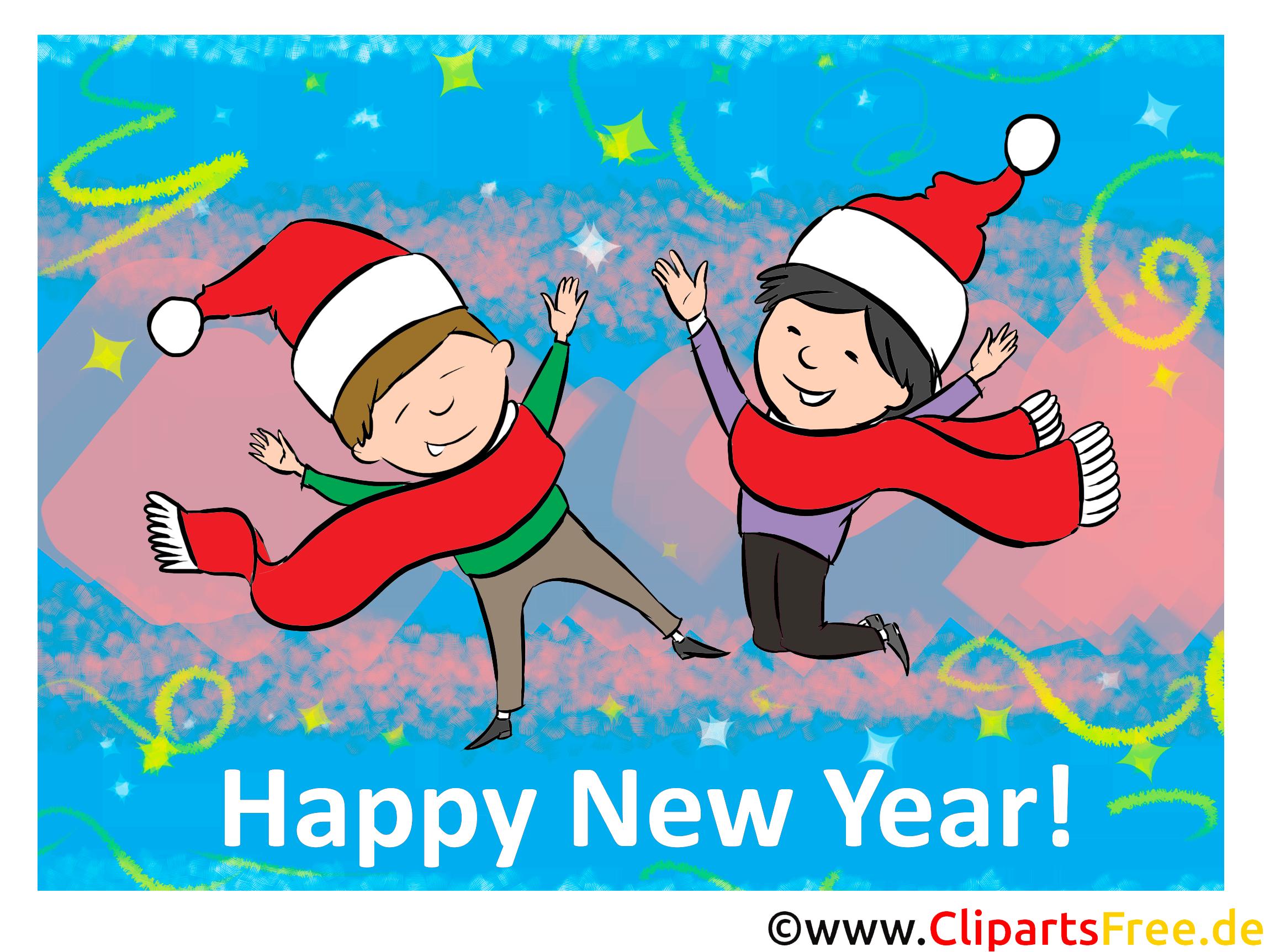 Bonne année nouvel image, dessin, carte