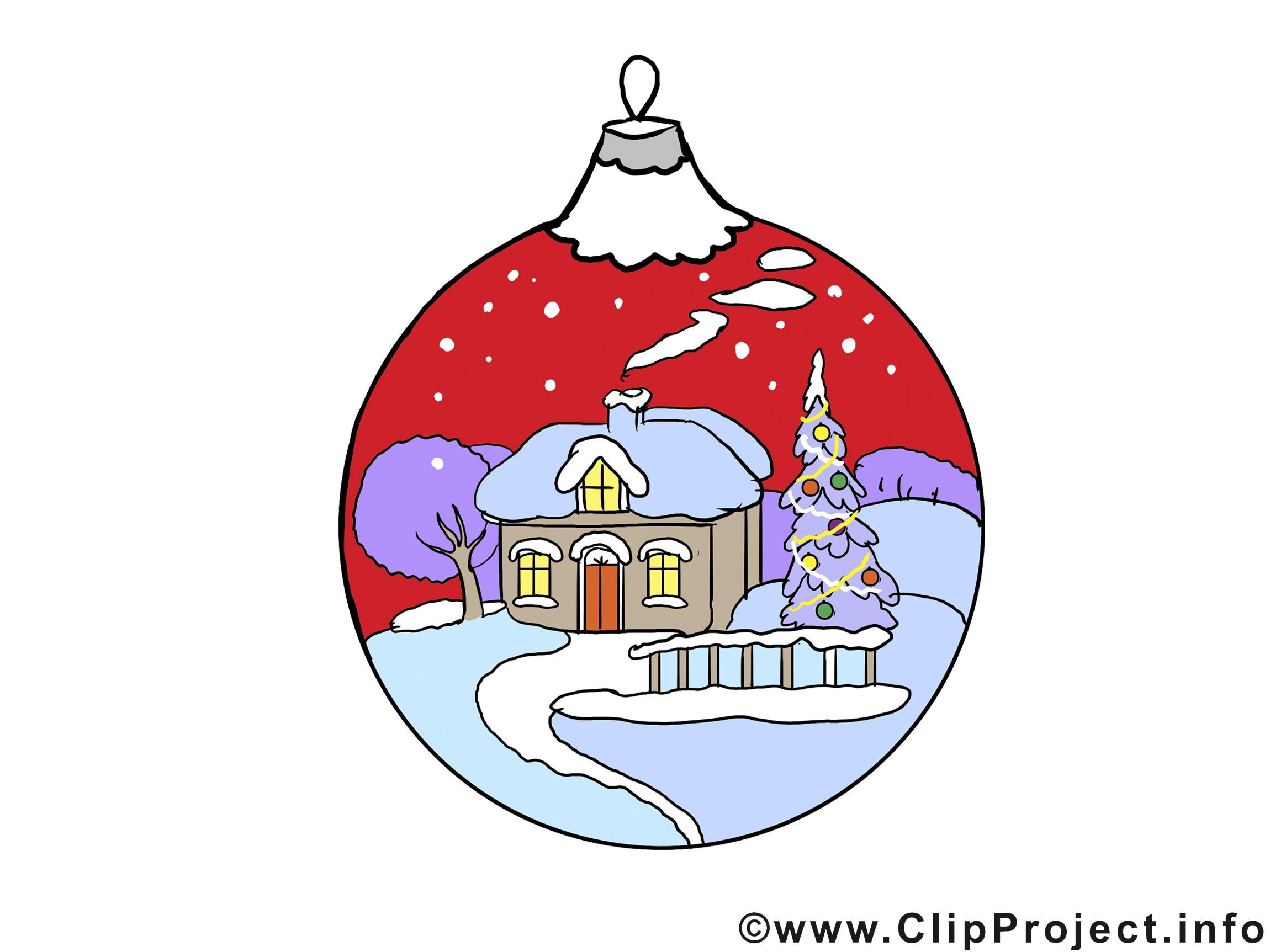 Boule maison illustration – Bonne année images