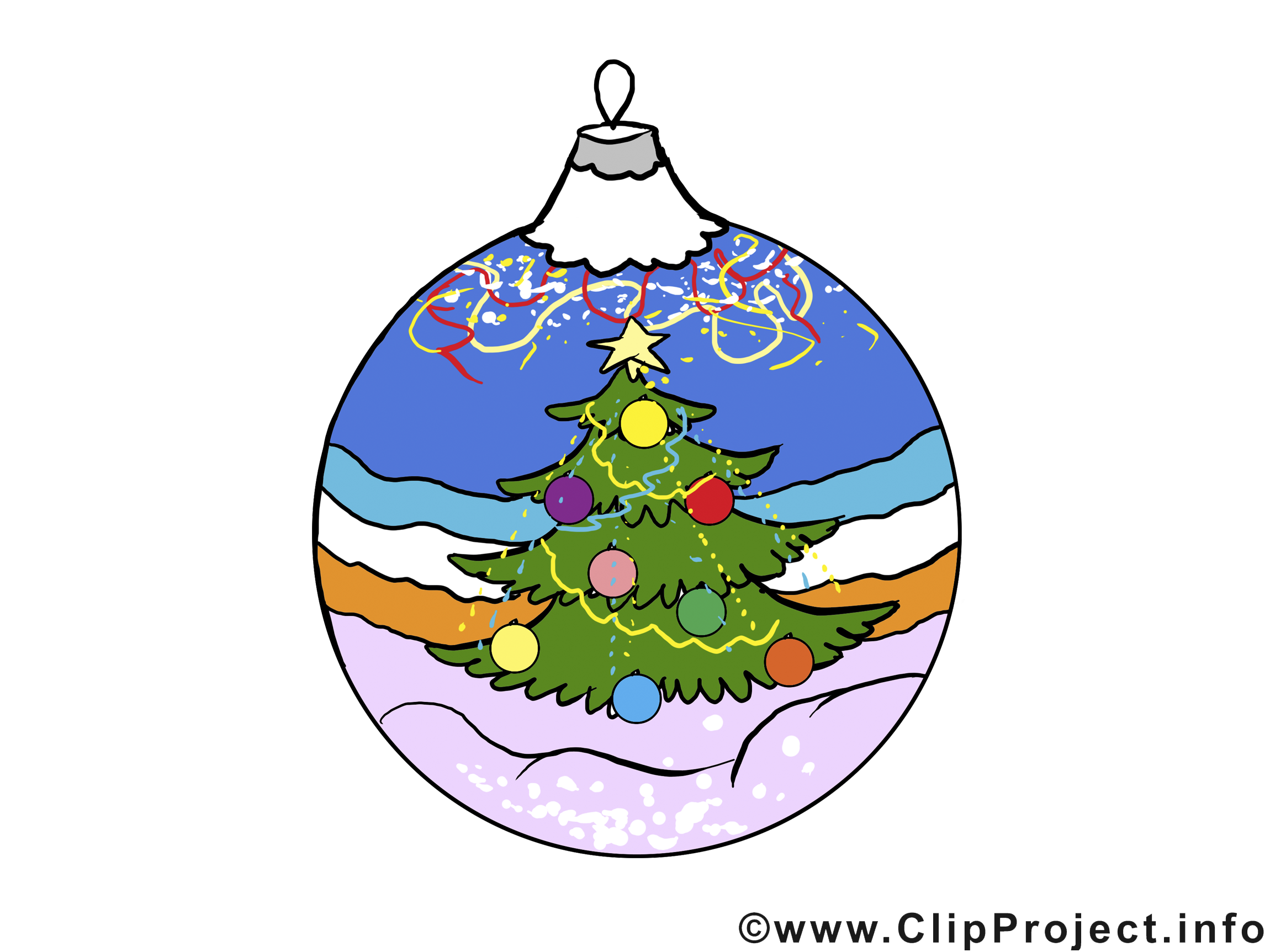 Boule sapin image à télécharger – Bonne année clipart