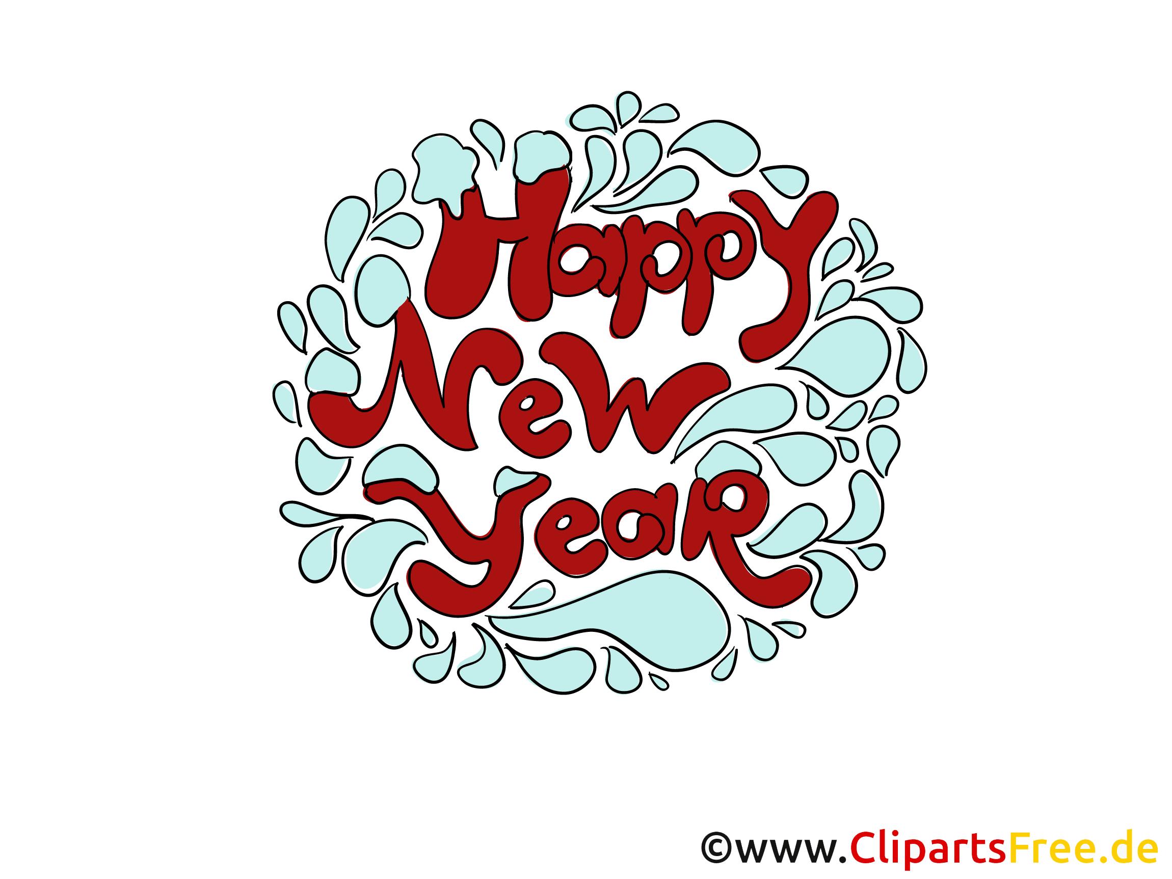 Carte de voeux de nouvelle année