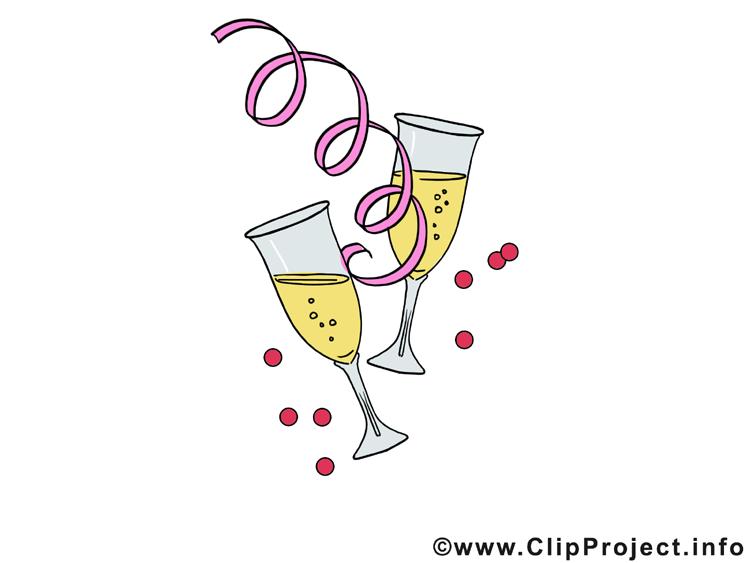 Champagne noël image à télécharger gratuite
