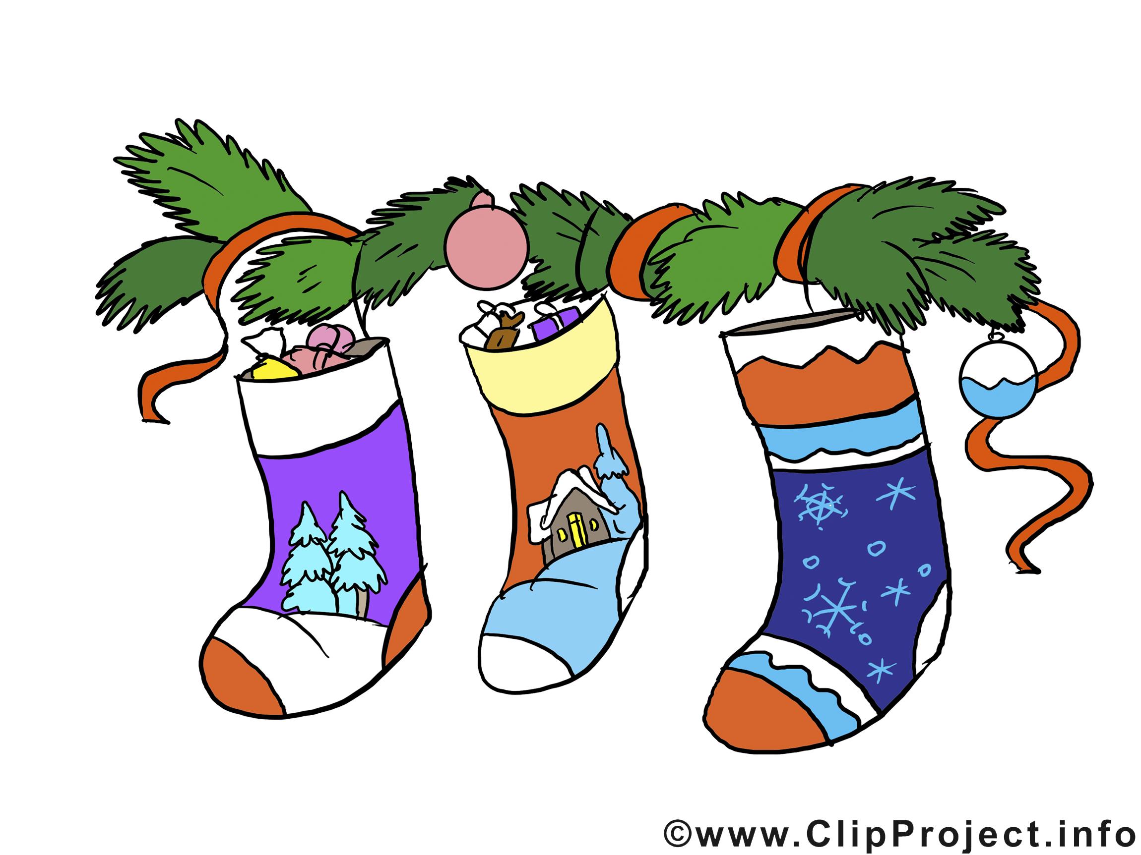 Chaussettes image gratuite – Bonne année clipar