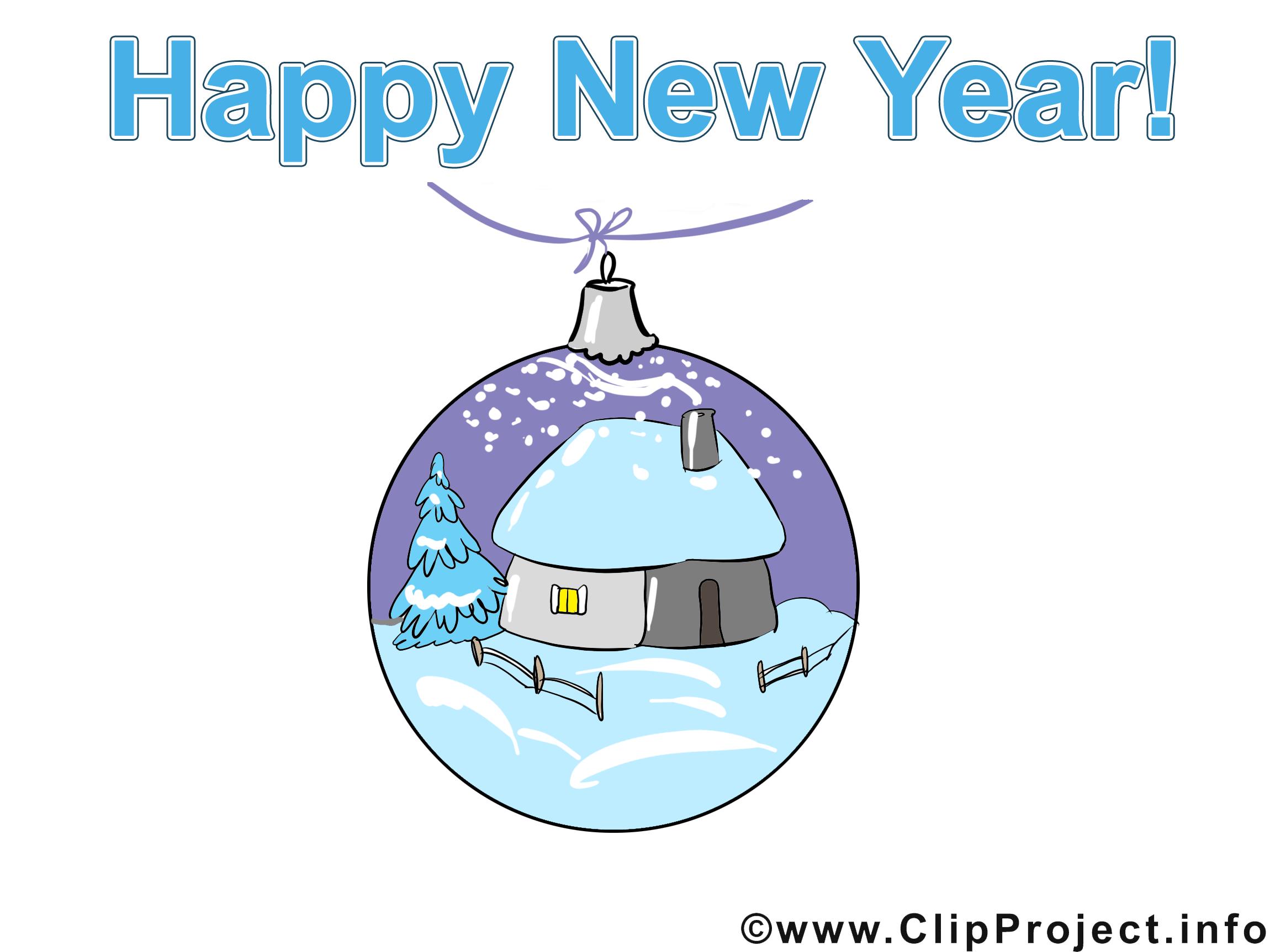 Clip art gratuit boule maison – Avent images