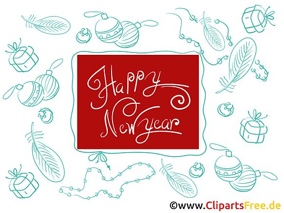Clipart gratuit bonne année