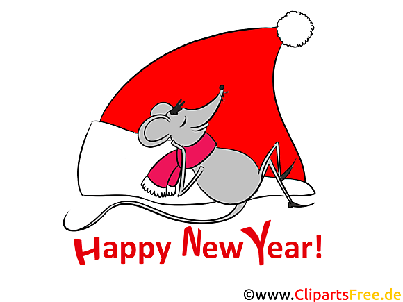 Free Carte de voeux de bonne année Clipart
