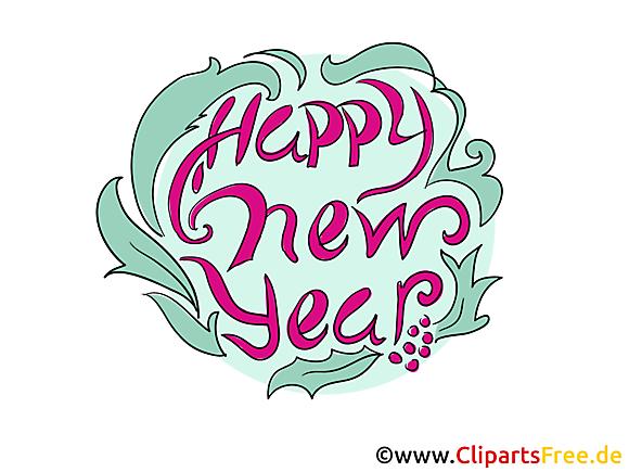 Happy New Year - Carte voeux bonne année