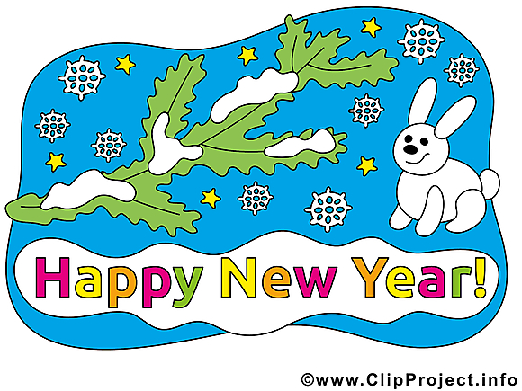 Hiver bonne année illustration à télécharger gratuite