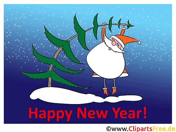 Les voeux de bonne d'année Image, Clipart, Carte
