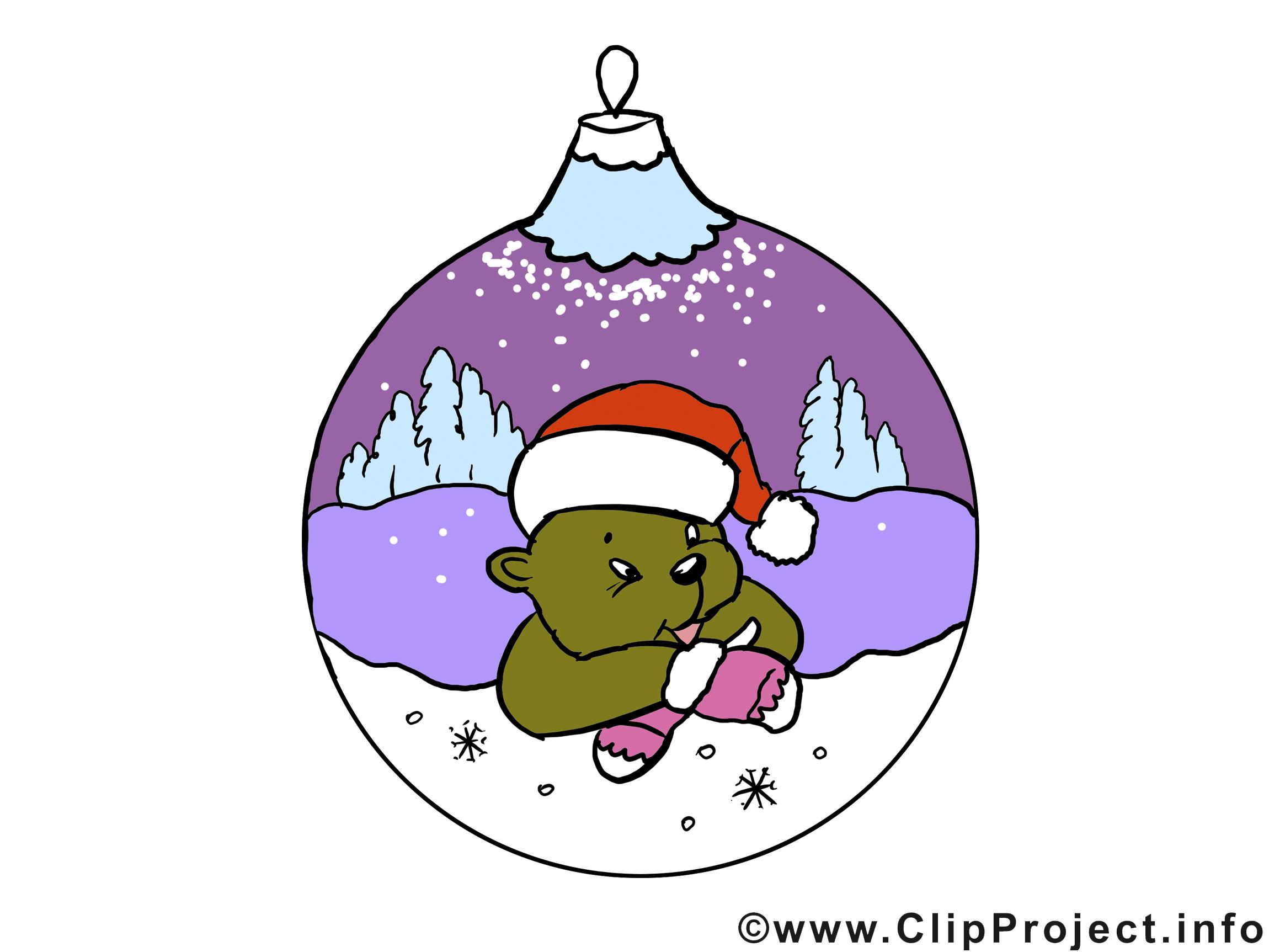 Ours hiver image gratuite – Bonne année clipart