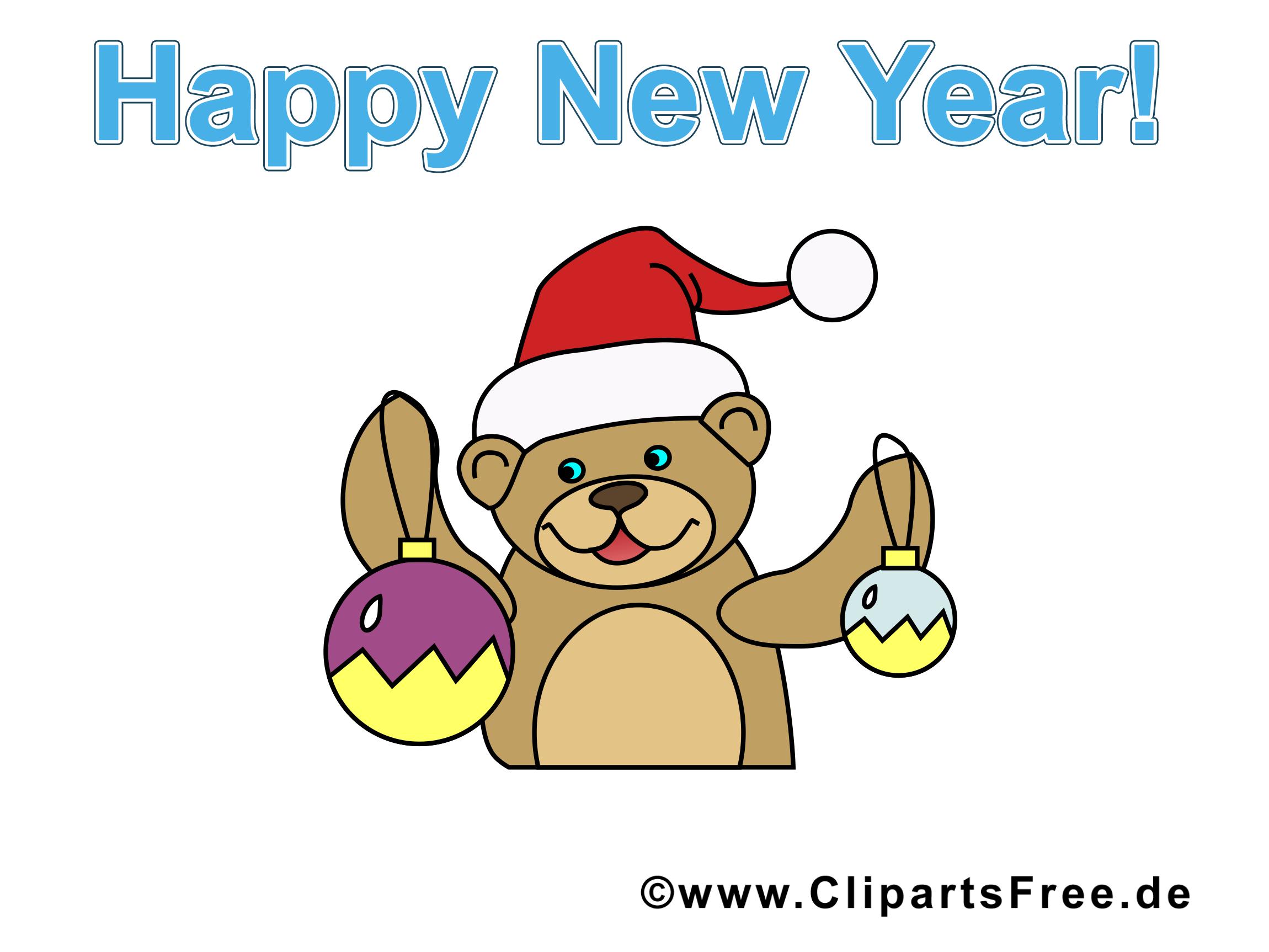 Ours image - Bonne année images cliparts