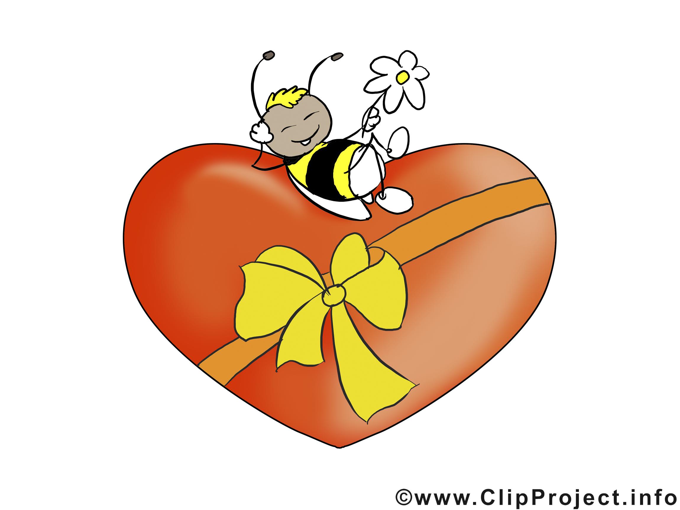 Abeille image à télécharger - Saint-Valentin clipart