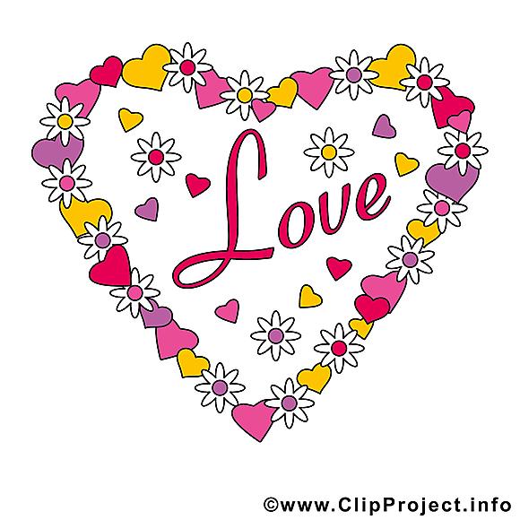 Amour dessin gratuit - Saint-Valentin image