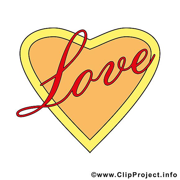 Amour dessins - Saint-Valentin clipart gratuit