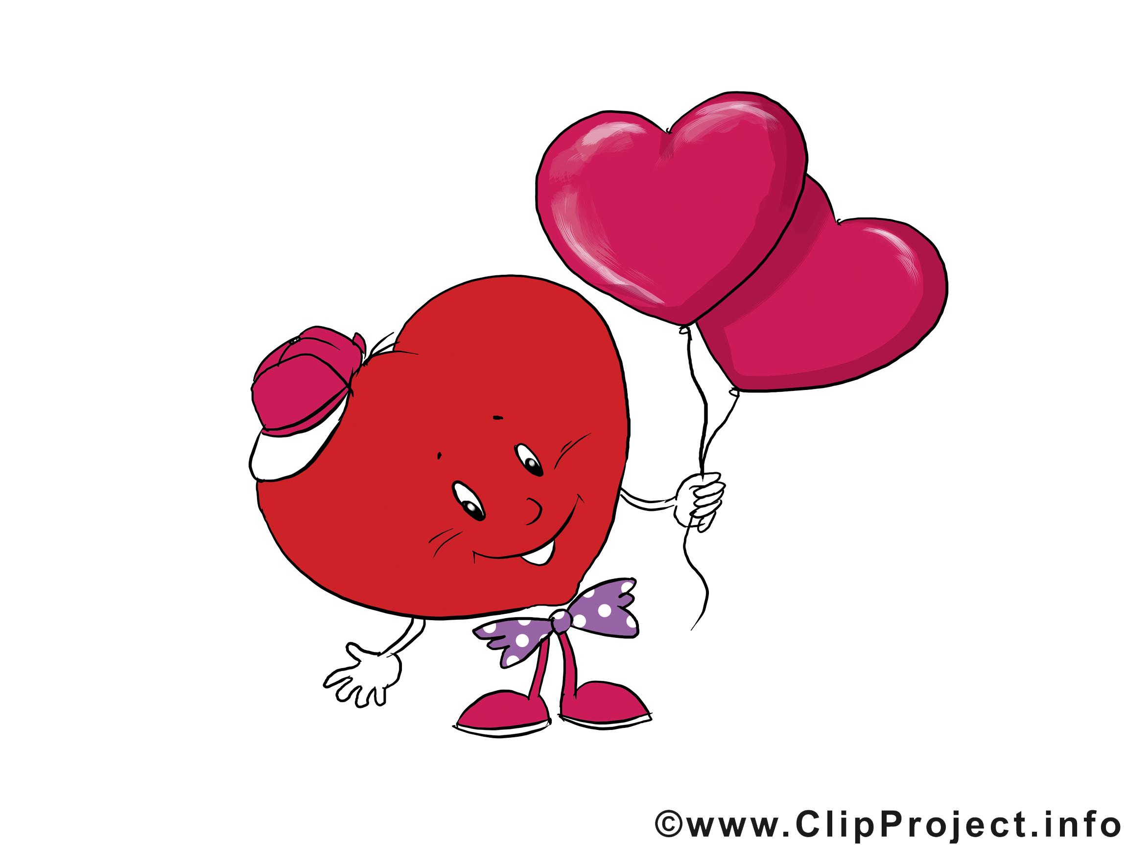 Ballons clip arts - Saint-Valentin illustrations