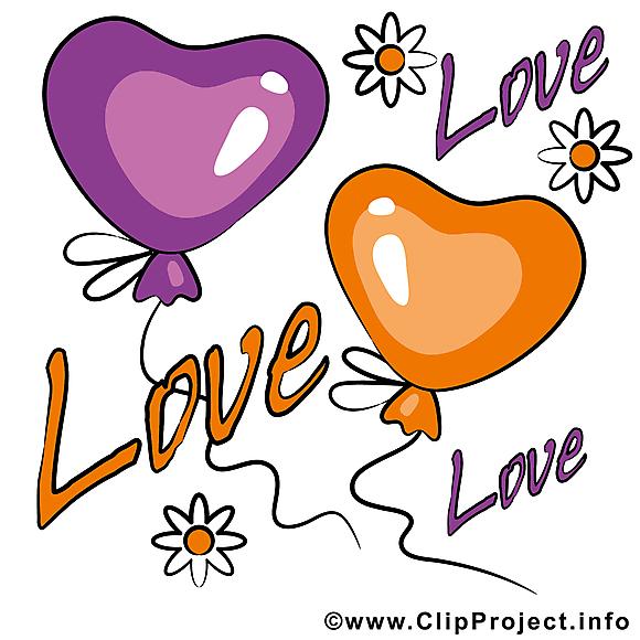 Ballons images - Saint-Valentin clip art gratuit