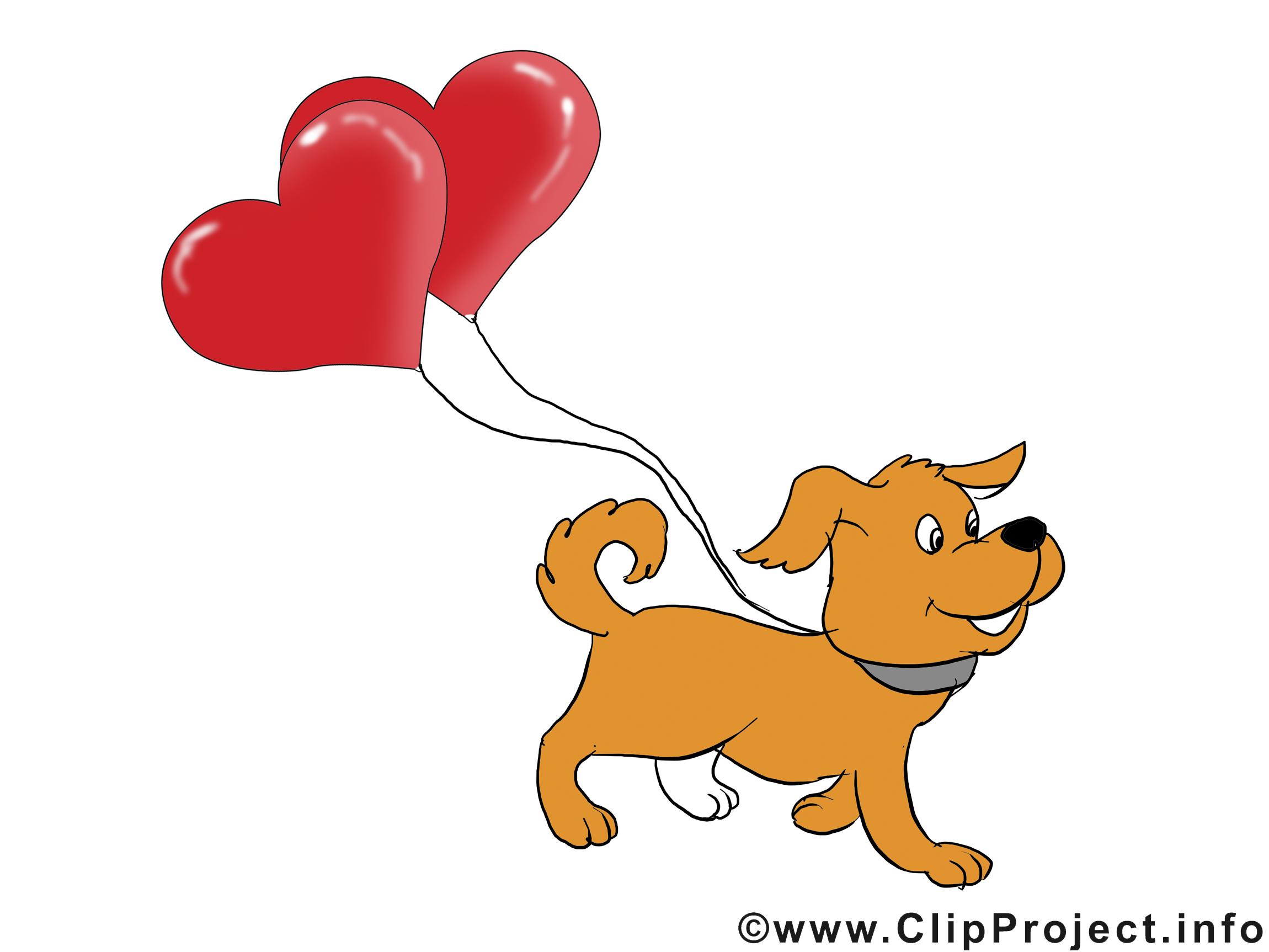 Chien dessin à télécharger - Saint-Valentin images