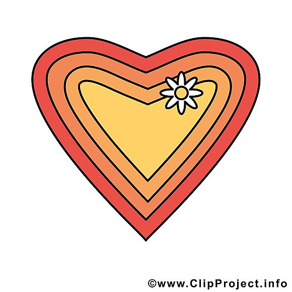 Coeur clipart - Saint-Valentin dessins gratuits