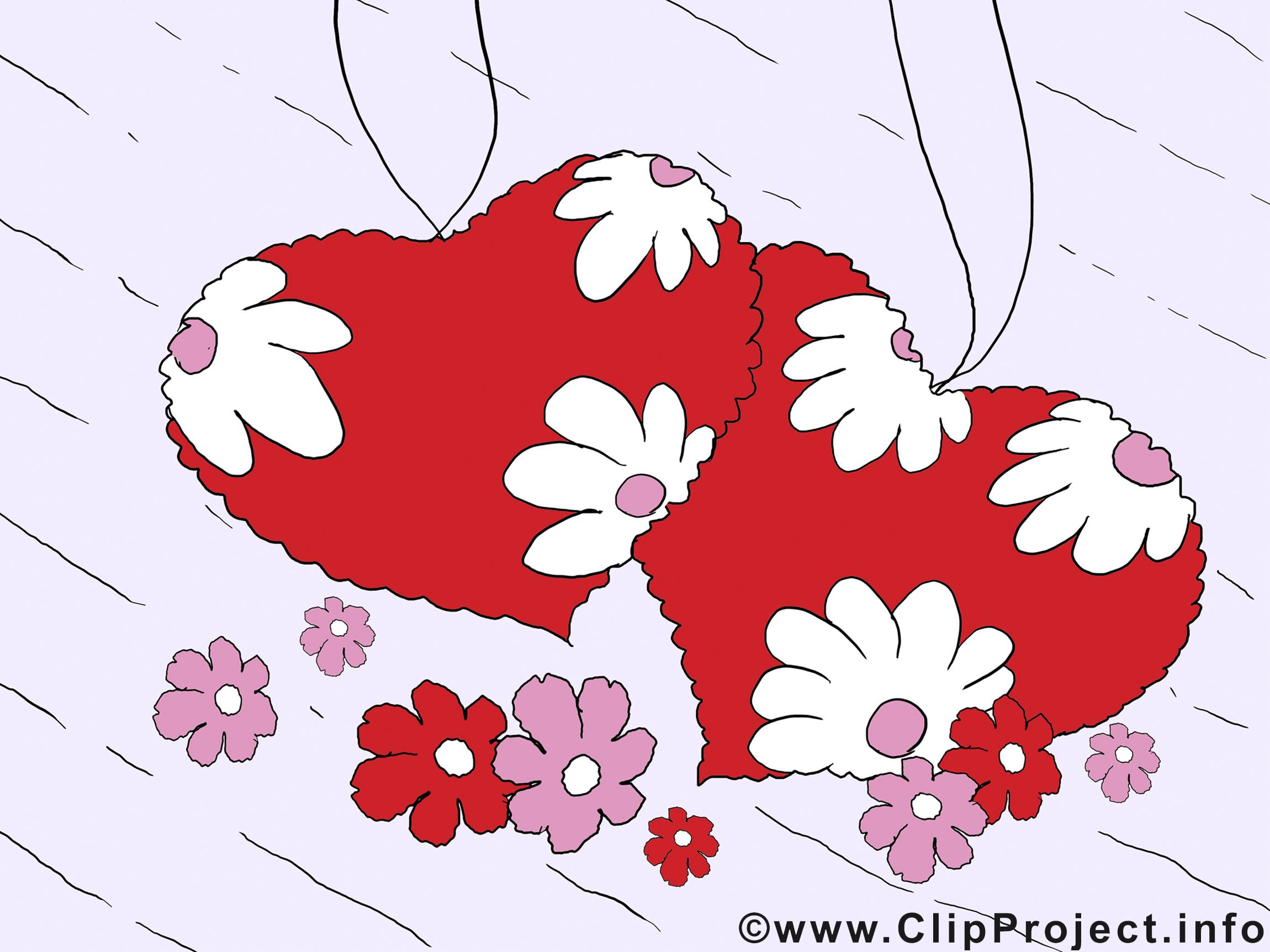 Coeurs dessin gratuit - Saint-Valentin clip arts