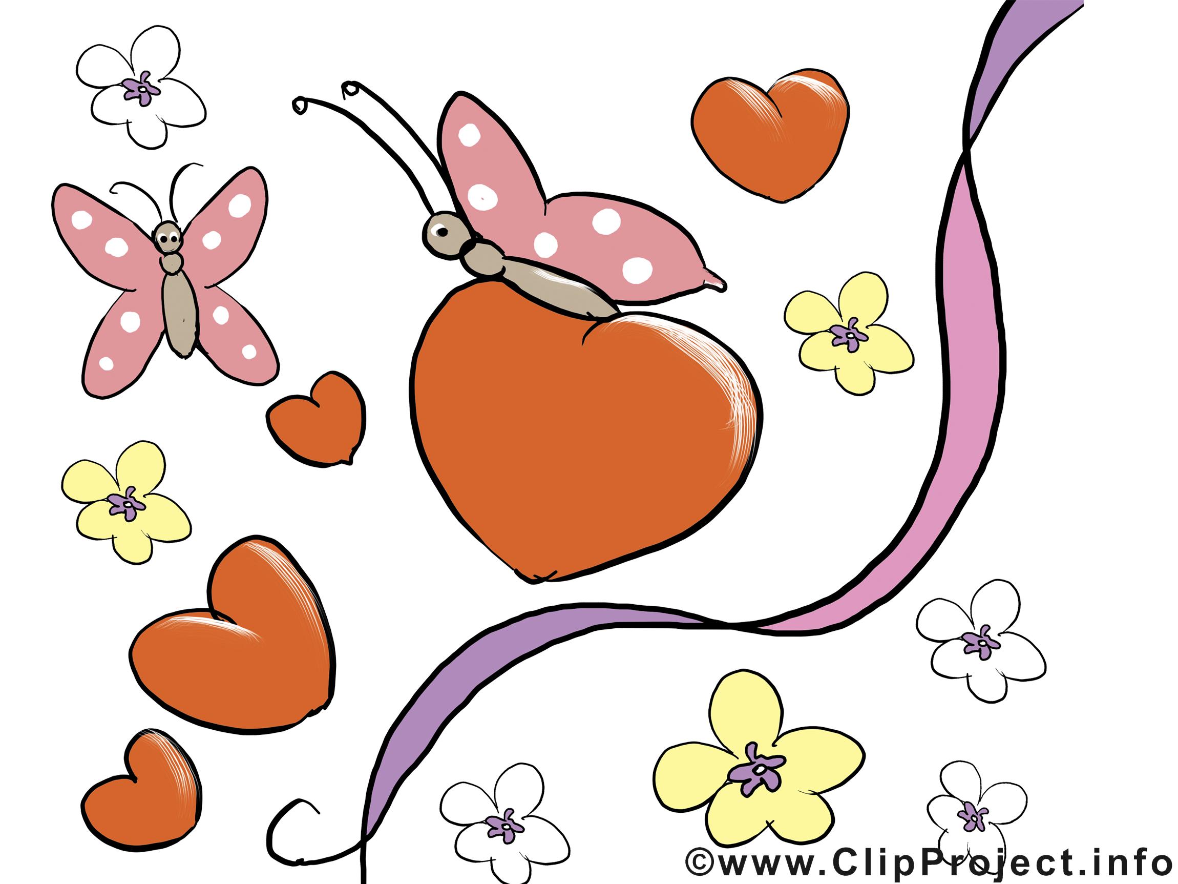 Papillons jolie carte - Saint-Valentin images