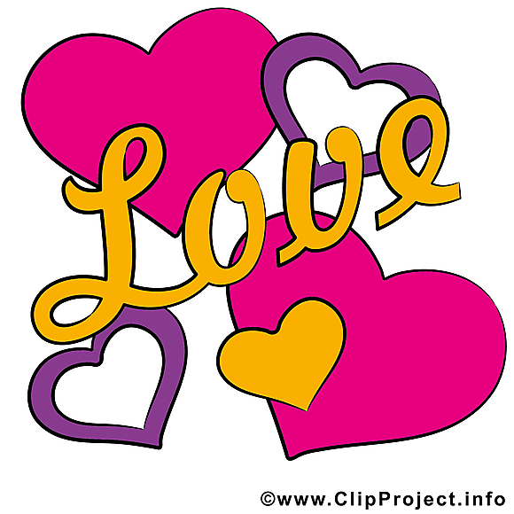 Saint-Valentin illustration - Coeurs carte gratuite