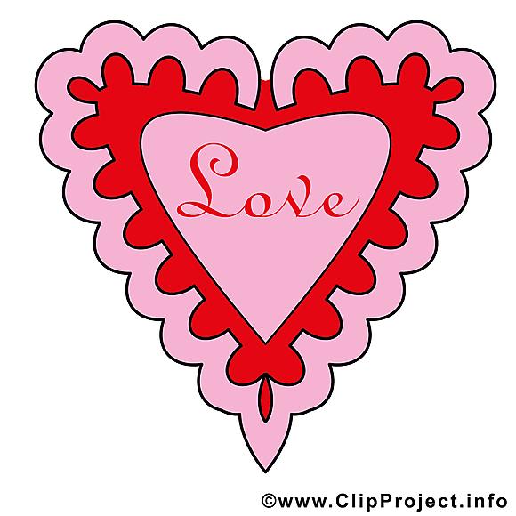 Saint-Valentin image gratuite - Coeur illustration