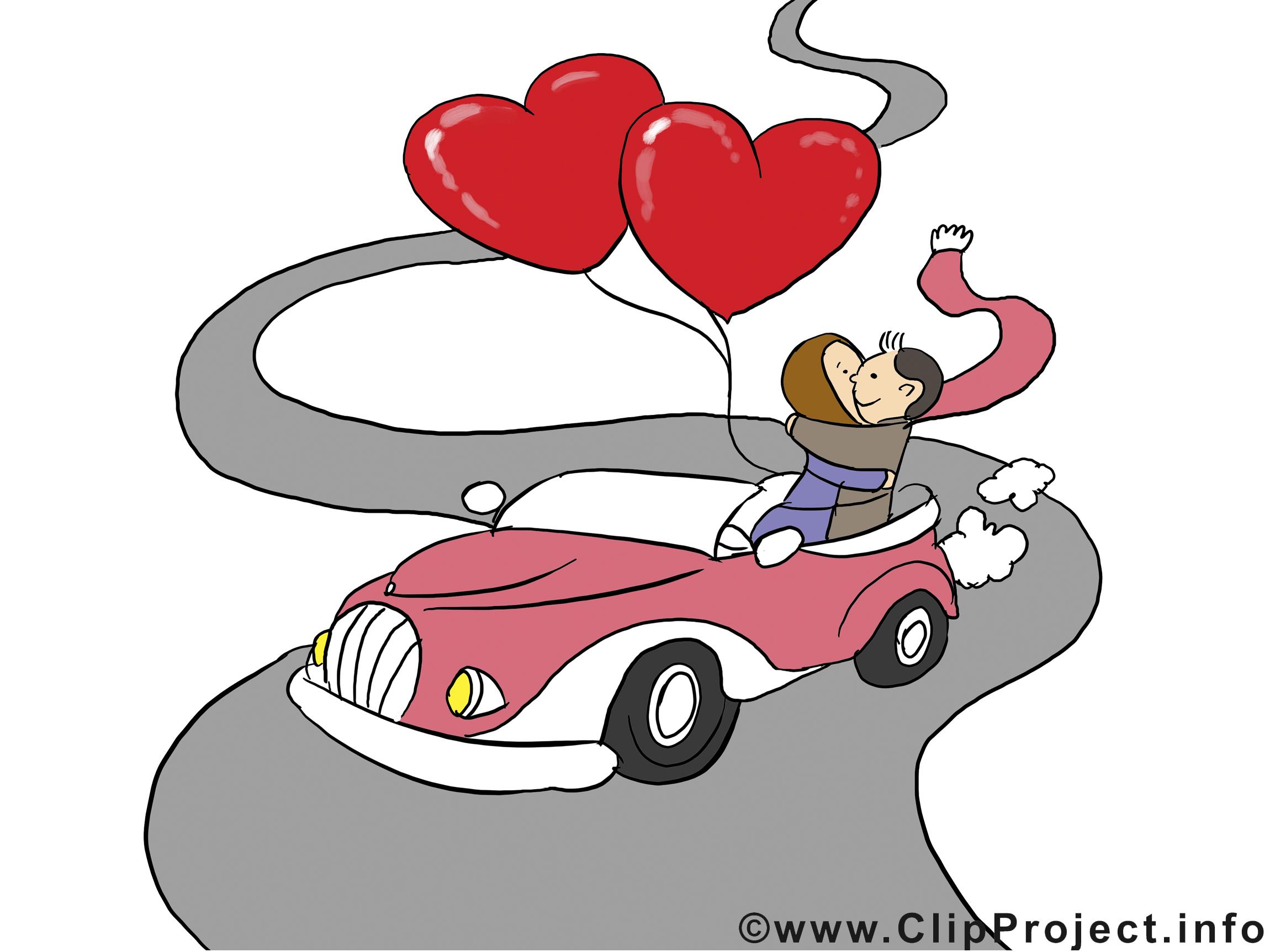 Voiture images saint valentin clipart gratuit saint - Image st valentin a telecharger gratuitement ...